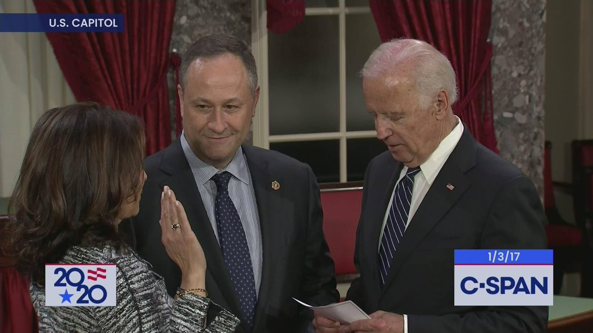 Sen Kamala Harris Sworn In By Vice President Biden C Span Org