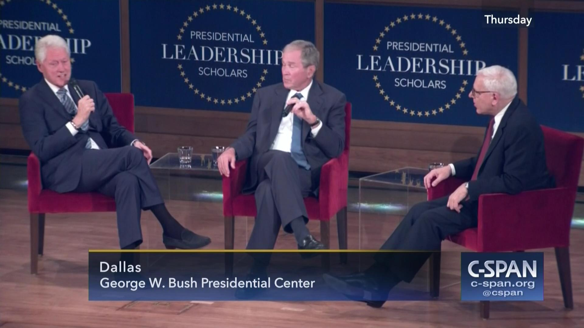Presidents Clinton Bush Discuss Leadership Friendship Jul 13 2017