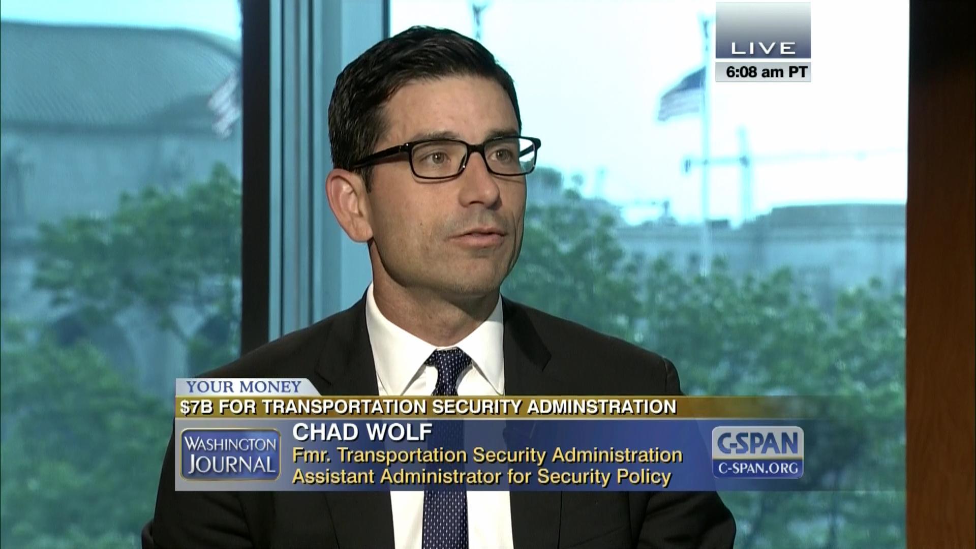 Washington Journal Chad Wolf Transportation Security Administration