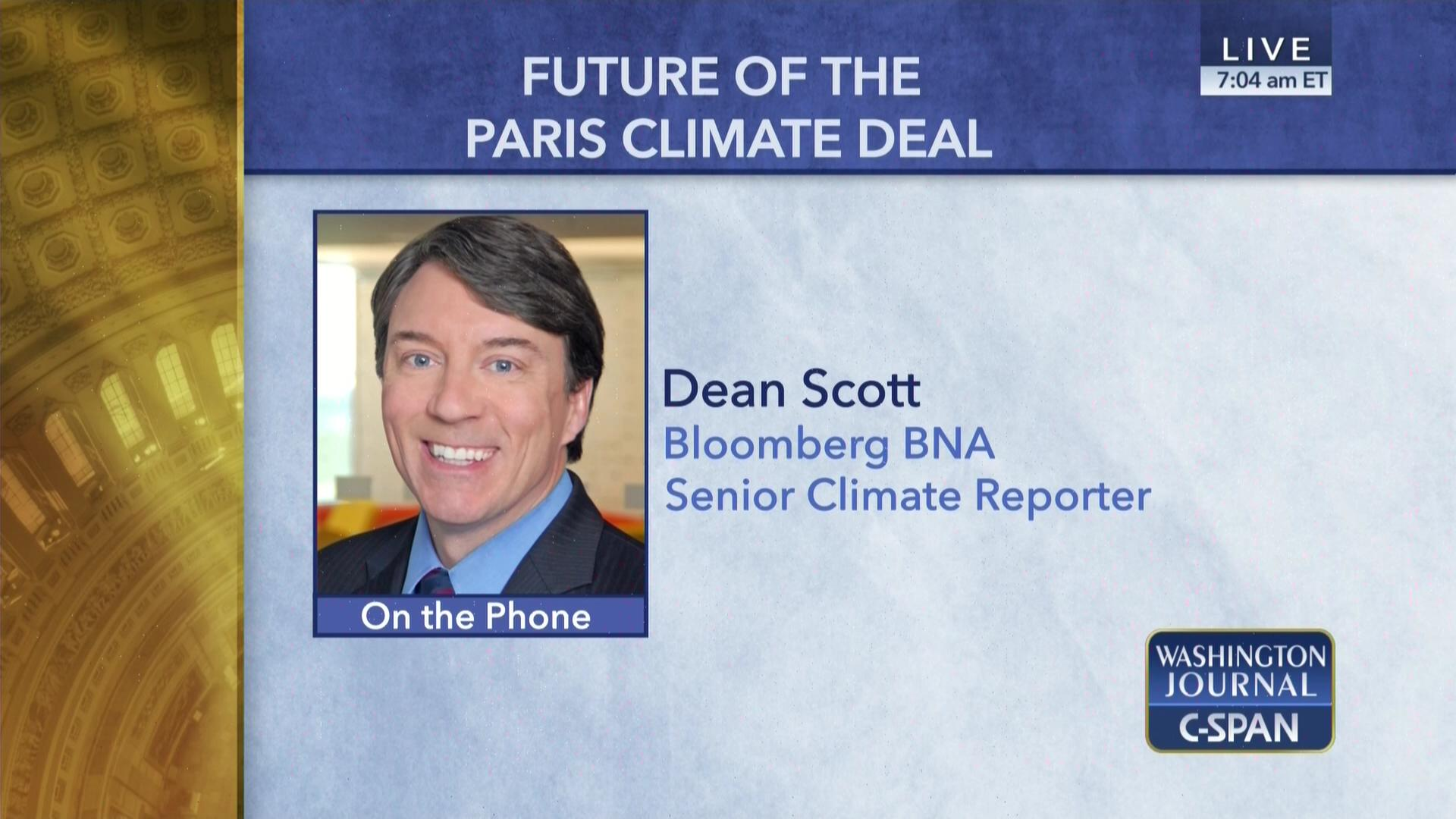 Great savings and offers incommunities - Dean Scott On Paris Climate Agreement