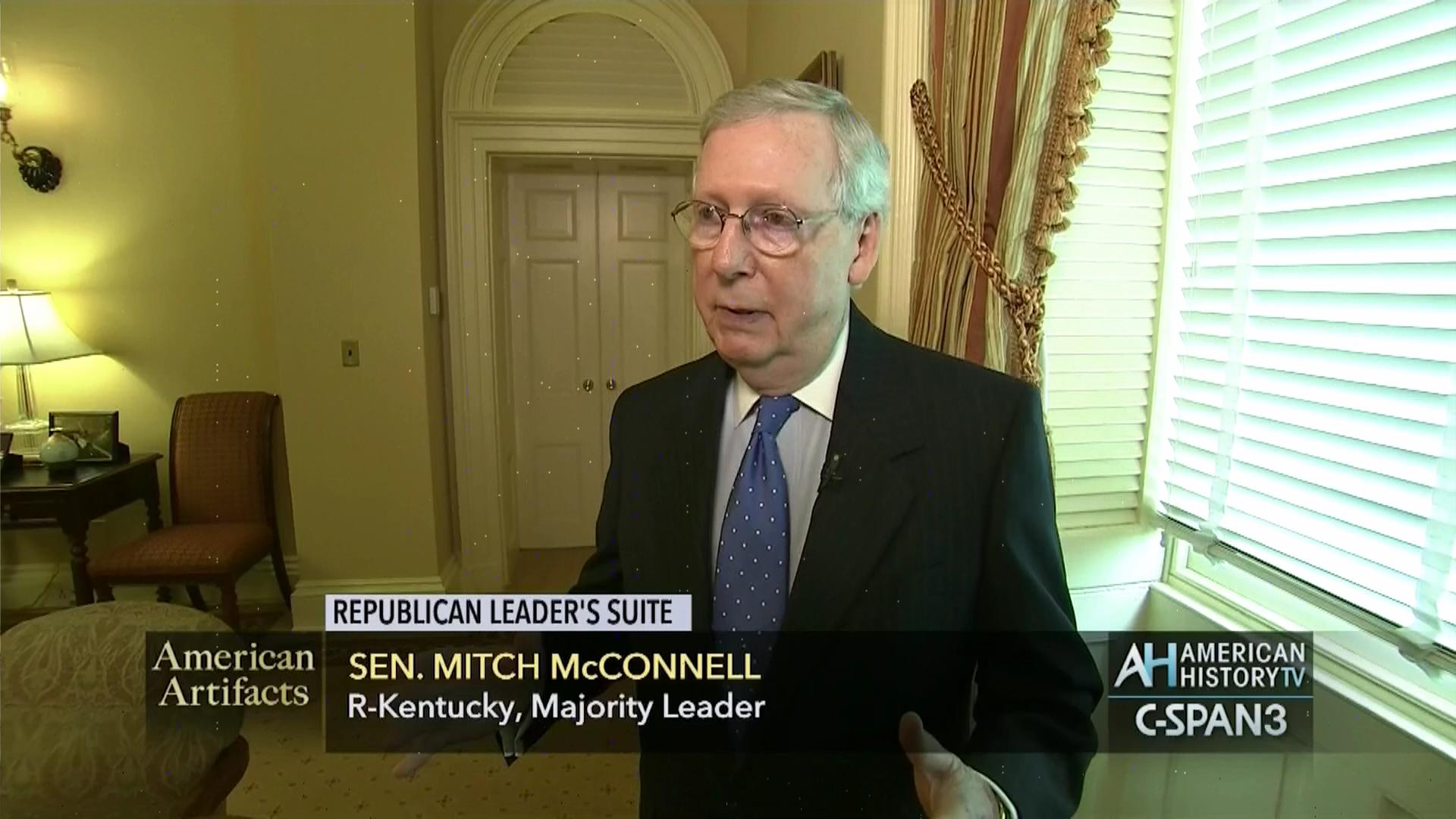 senator mcconnell republican leader's suite, may 9 2016 | c-span