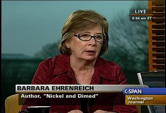 barbara ehrenreich nickel and dimed thesis Nickel and dimed: on not getting by in america is a book by barbara ehrenreich based on her ethnographic research on low-wage jobs in america inspired in part by the rhetoric surrounding welfare reform at the time, she decided to immerse herself into the world of low-wage earning americans.