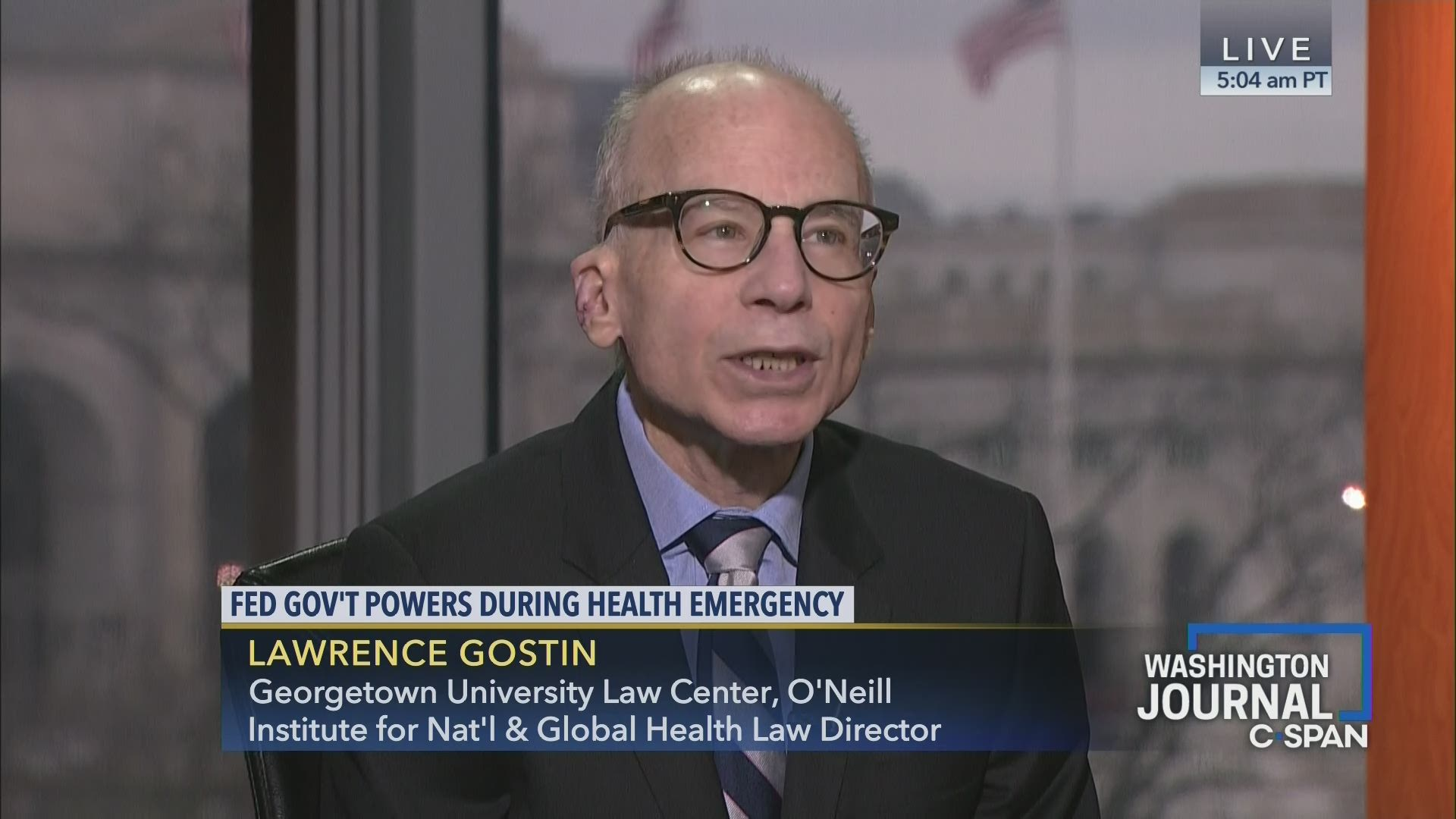 Lawrence Gostin on Federal Government Powers During Health ...