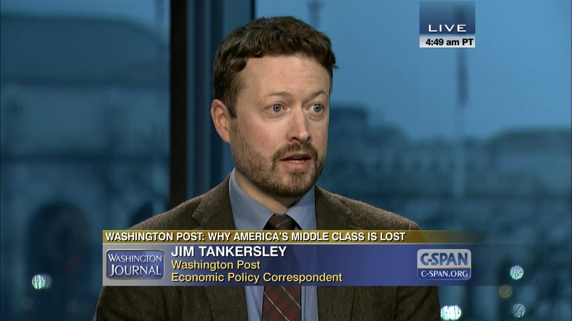 Washington Journal Jim Tankersley Economic Struggles Middle Class