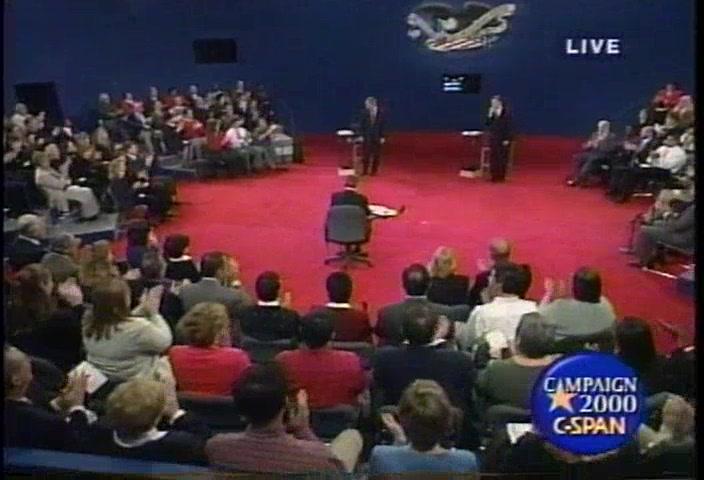 2000 Presidential Candidates Third Debate Oct 17