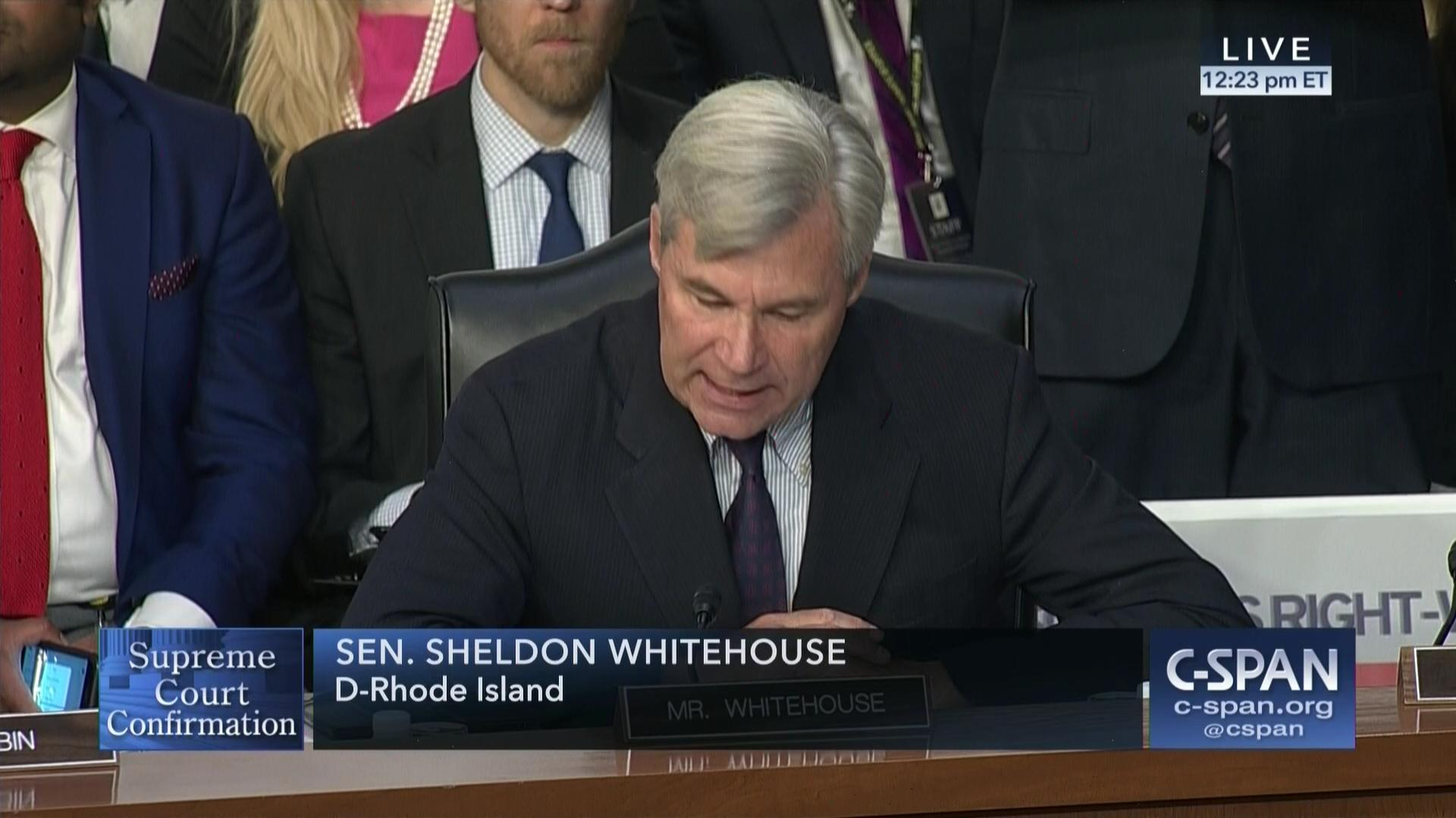 Senator Whitehouses Opening Remarks Supreme Court Hearing Confirmation Watch And Latest News In Senate Judiciary Committee