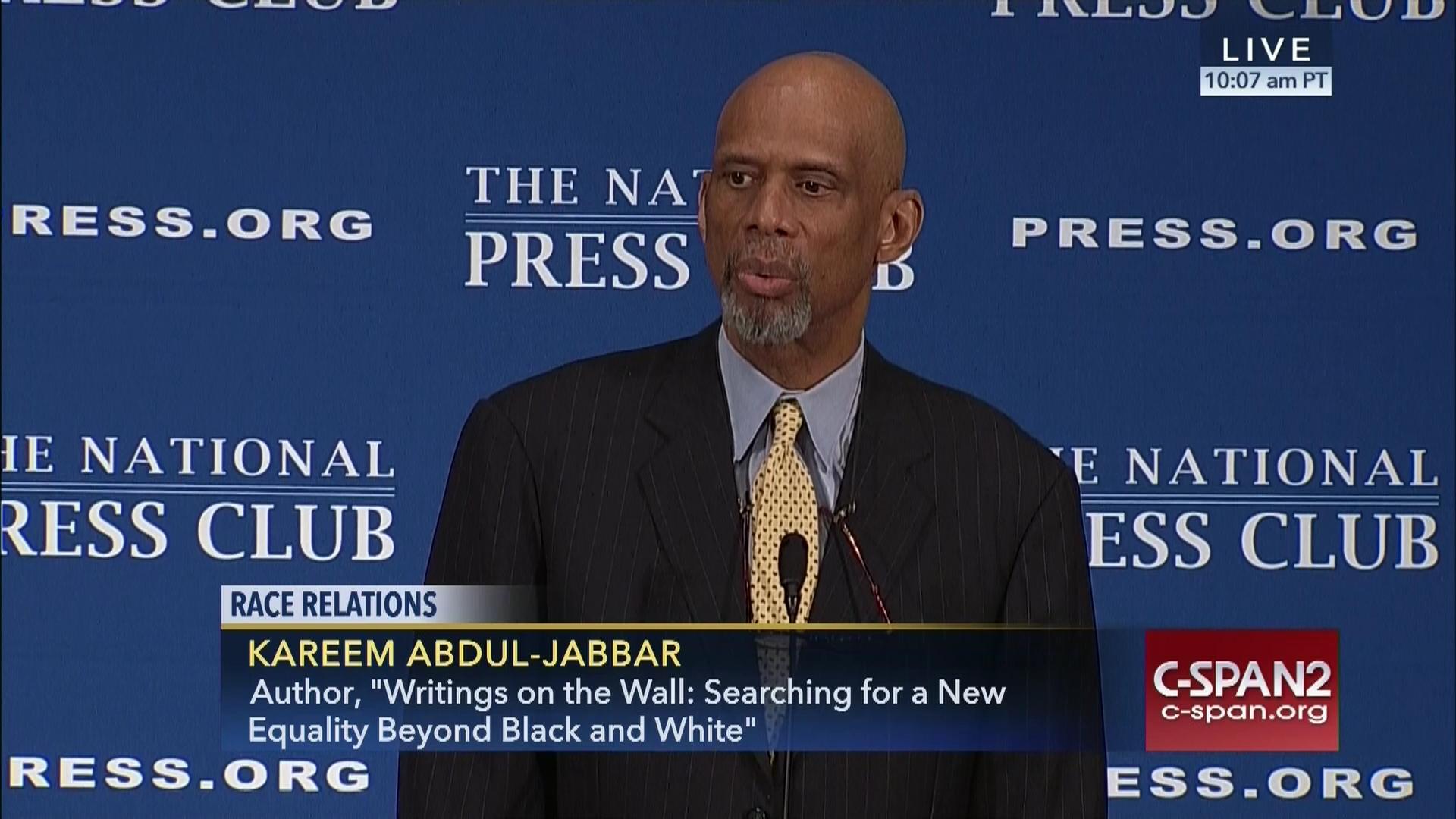 Kareem Abdul Jabbar Discusses Writings Wall, Oct 17 2016 | Video |  C-SPAN.org