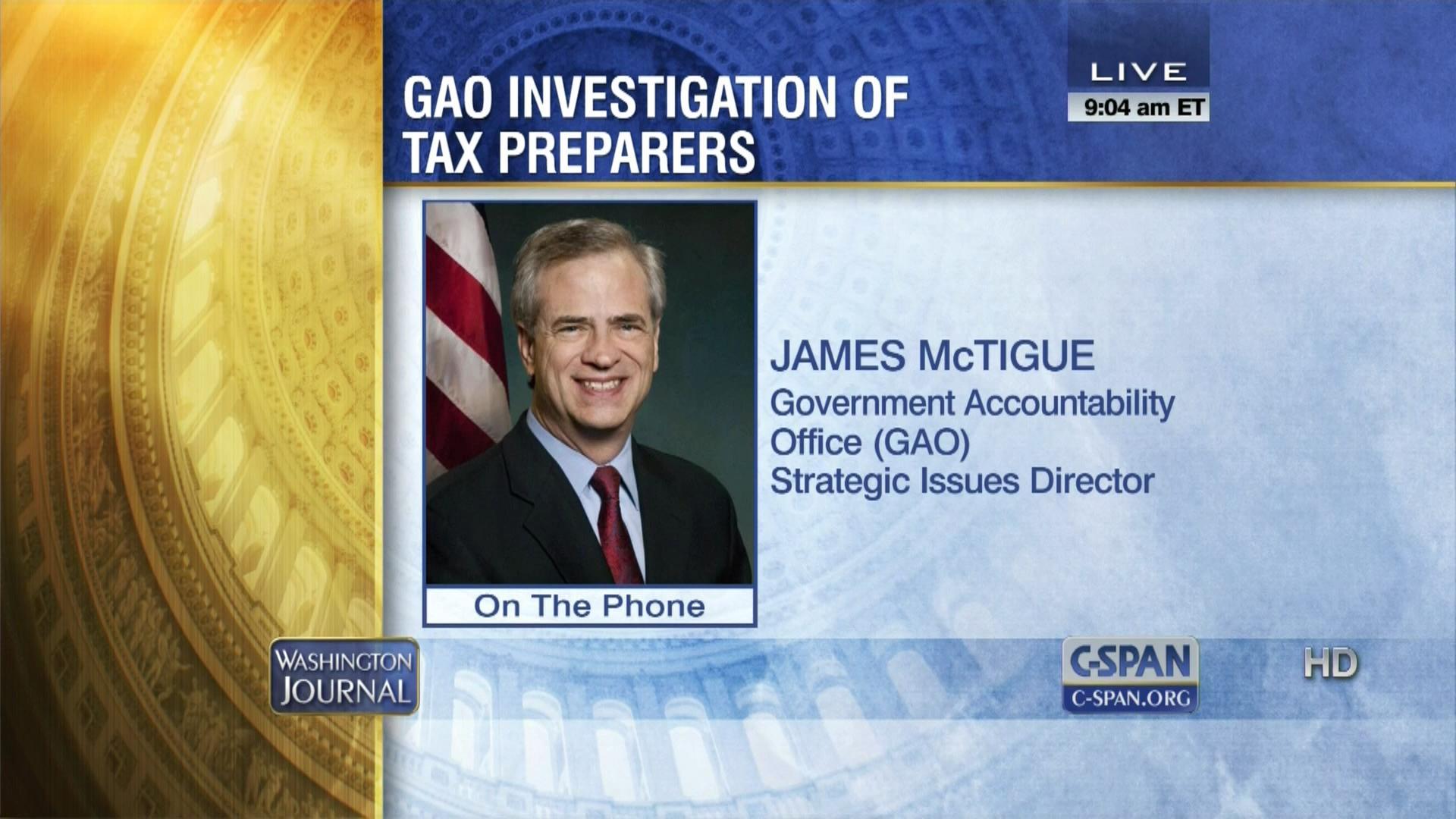 Government Accountability fice Tax Preparer Investigation Apr