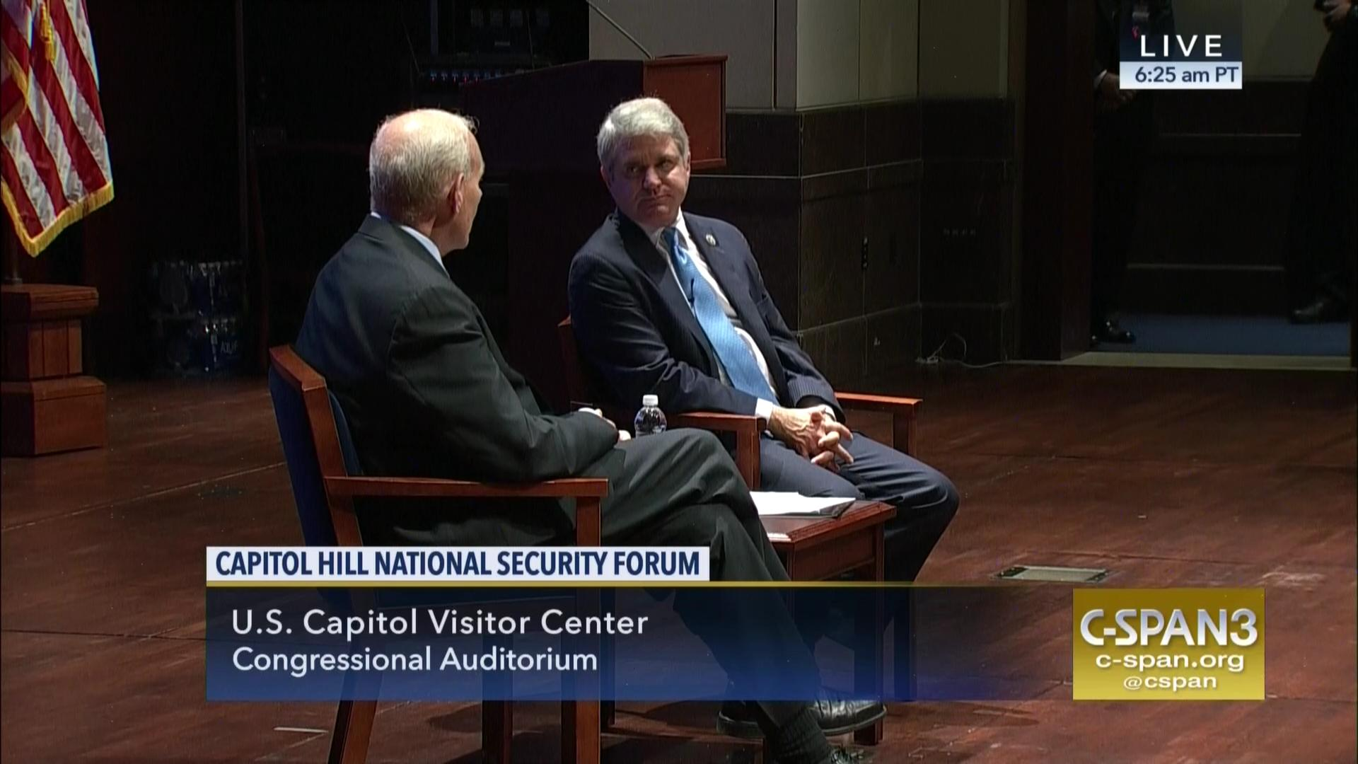 National Security Forum, Representative McCaul and Secretary Kelly