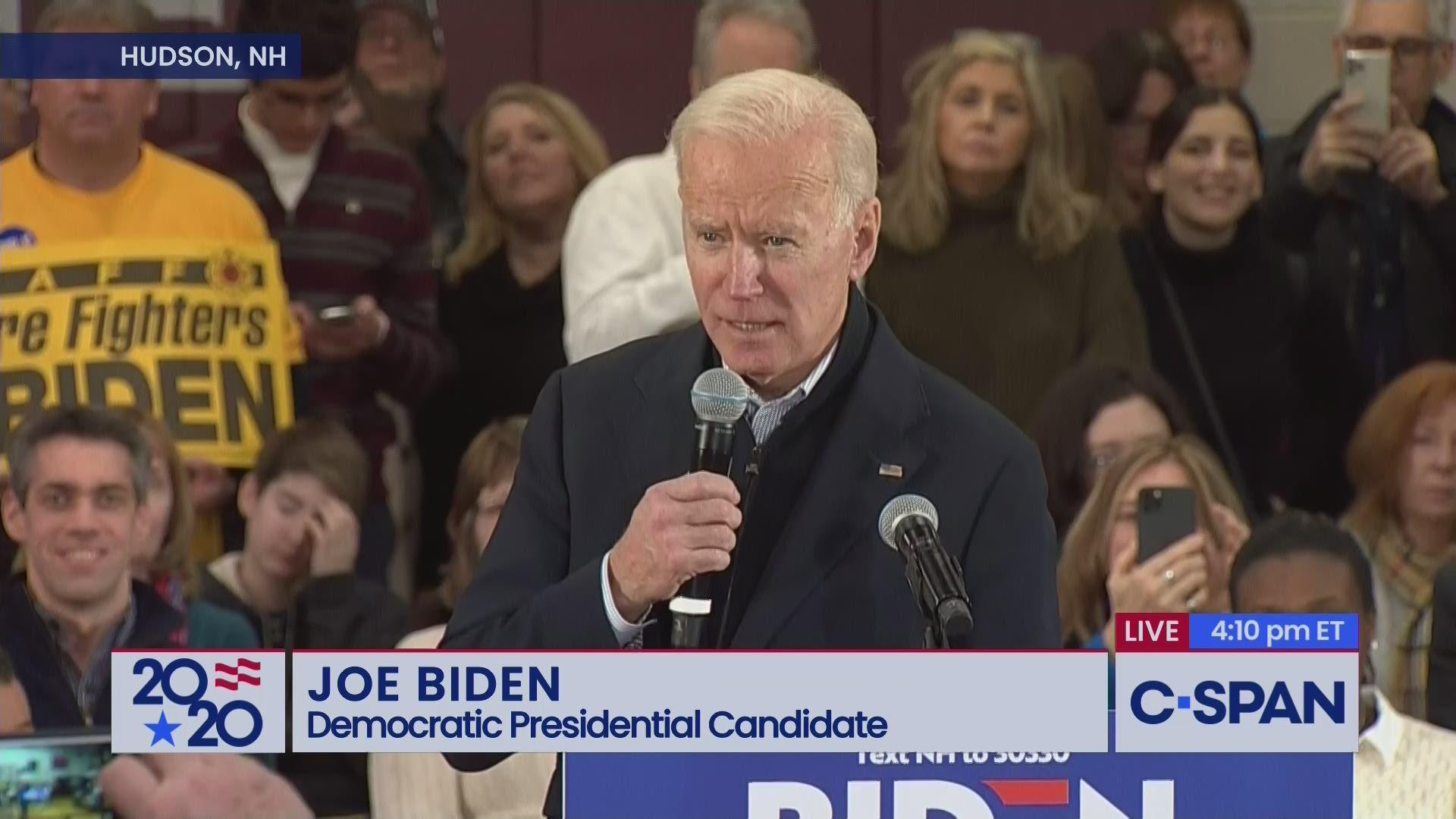 Joe Biden Campaign Event In Hudson New Hampshire C Span Org