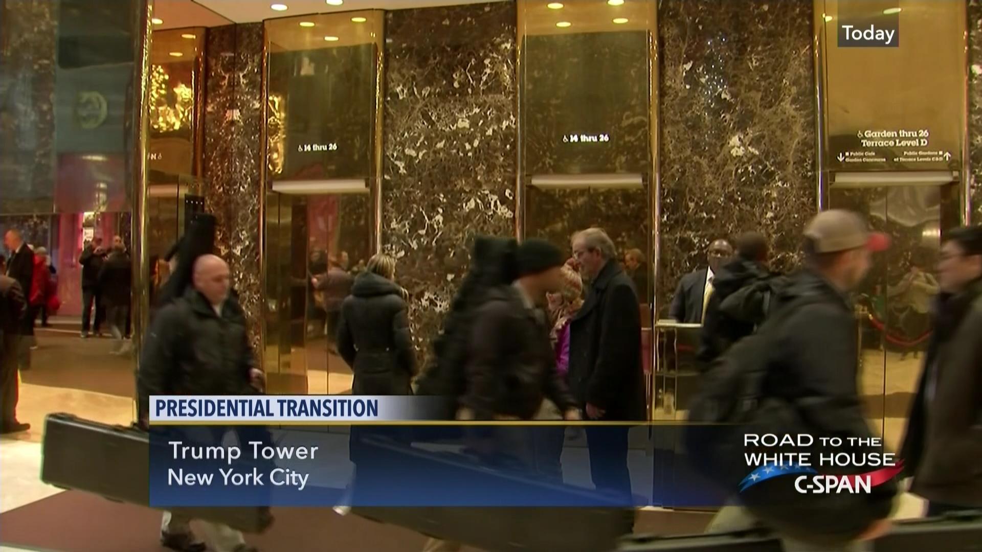 Trump Tower Lobby Pool Feed, Dec 12 2016 | Video | C-SPAN.org