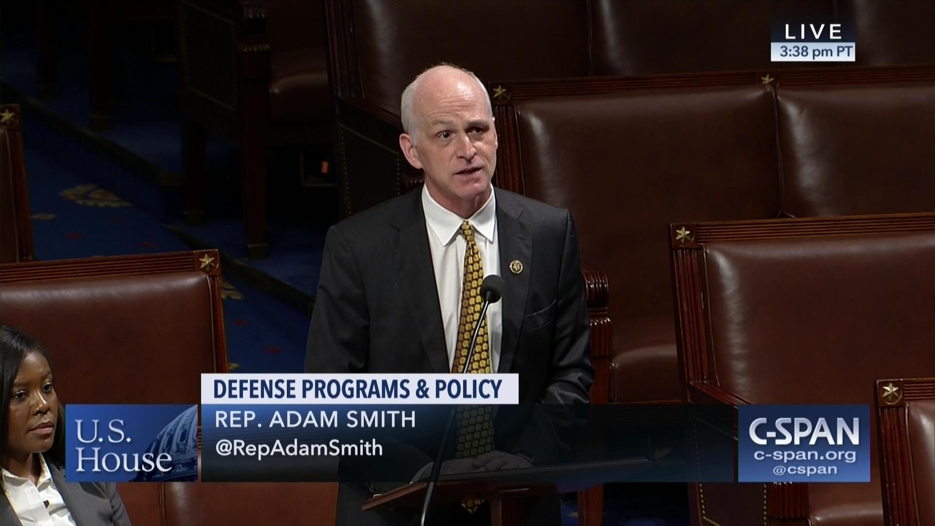 ca70d8624bd Rep. Adam Smith Debates Fiscal Responsibility and the FY19 NDAA | C-SPAN.org
