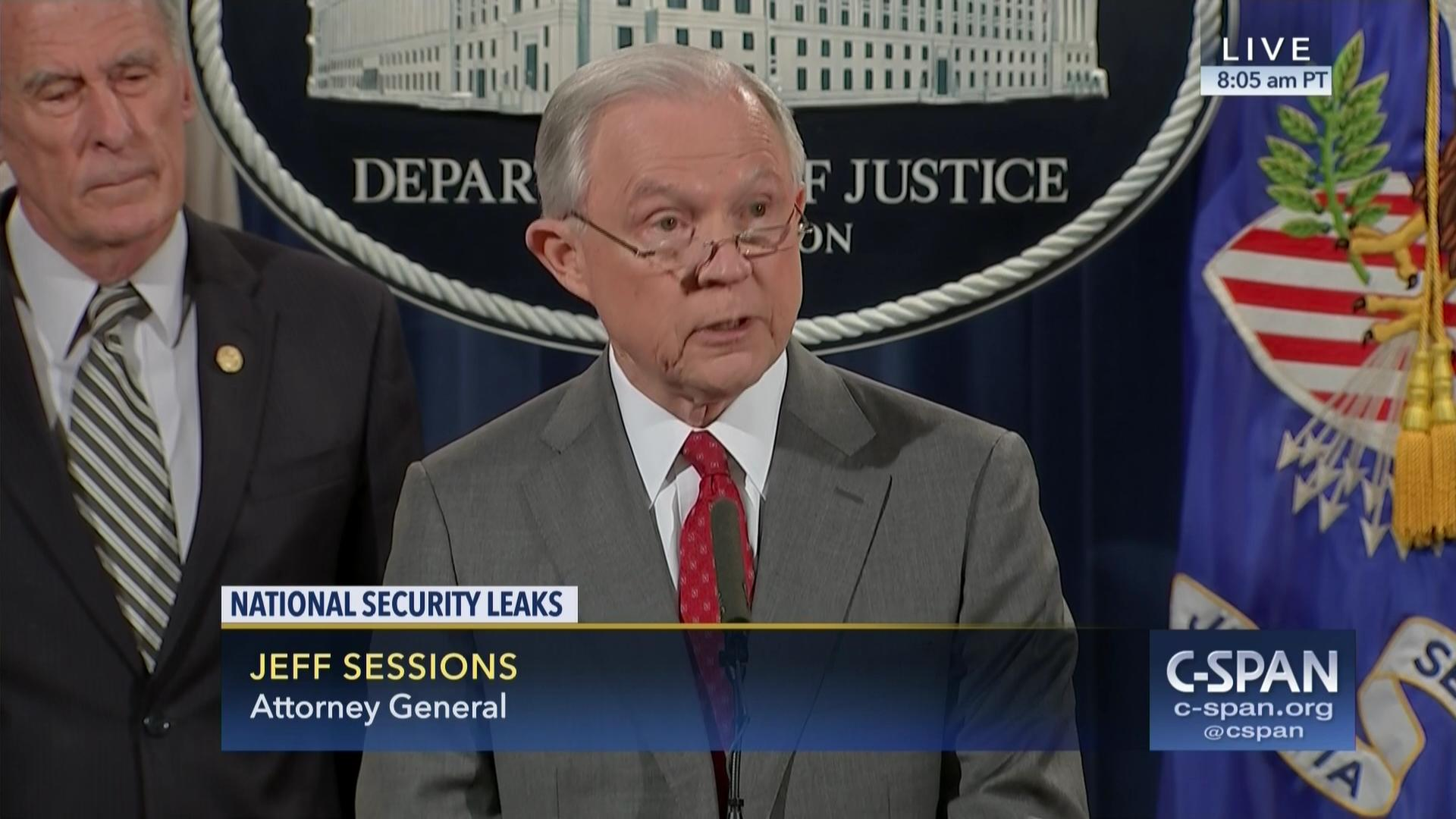 Attorney General Culture Leaking Stop, Aug 4 2017 | Video | C-SPAN.org