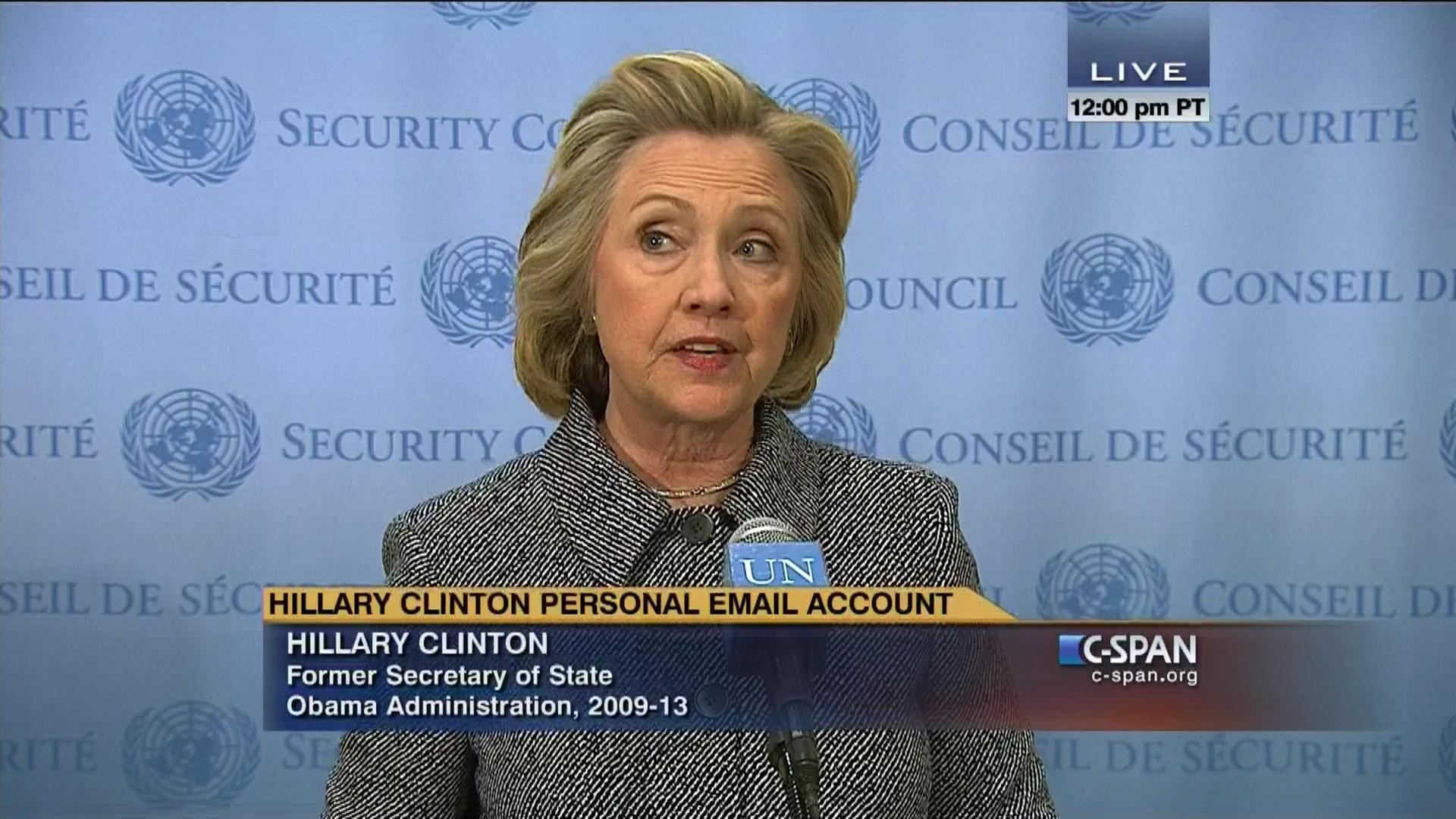 Hillary clinton news conference mar 10 2015 video c span aljukfo Choice Image