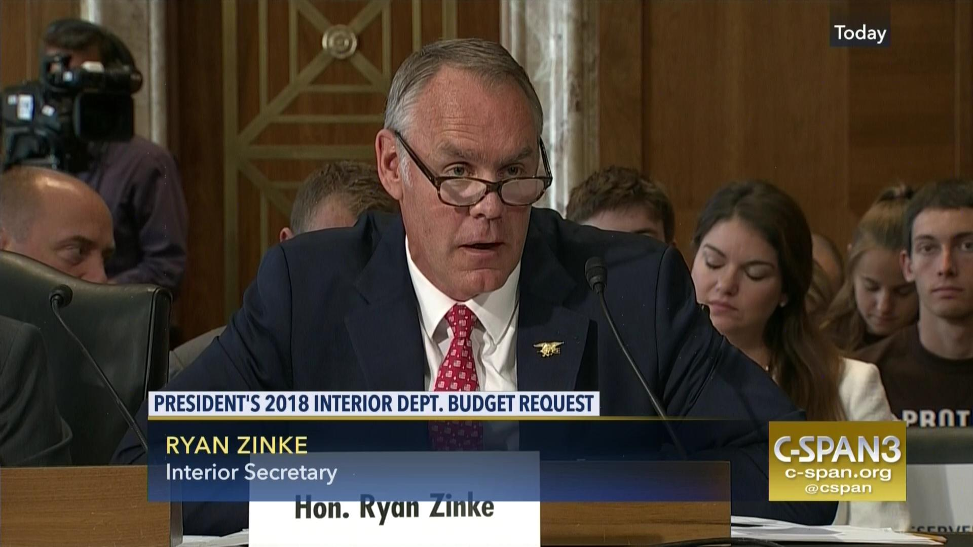 Interior Secretary Ryan Zinke Testifies FY 2018 Budget, Jun 20 2017 |  C SPAN.org