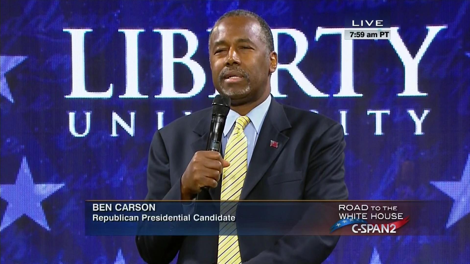 Dr Ben Carson Remarks Liberty University Nov Video