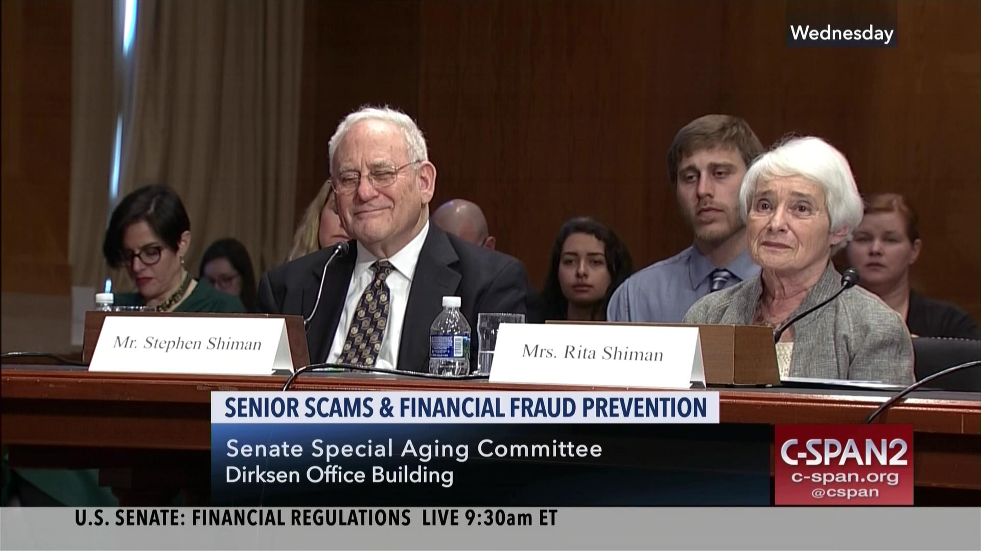 Senate Aging mittee Holds Hearing Stopping Senior Scams Mar 7 2018
