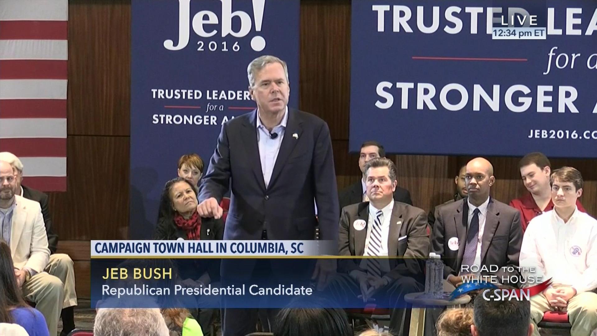 Jeb Bush Town Hall Meeting Columbia South Carolina Feb 18 2016