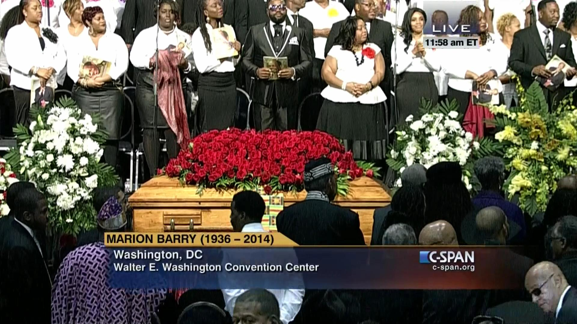 Funeral Service Marion Barry Dec 6 2014