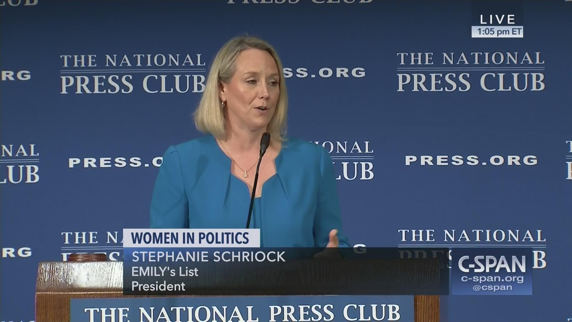 EMILY\'s List President Stephanie Schriock Addresses National Press Club
