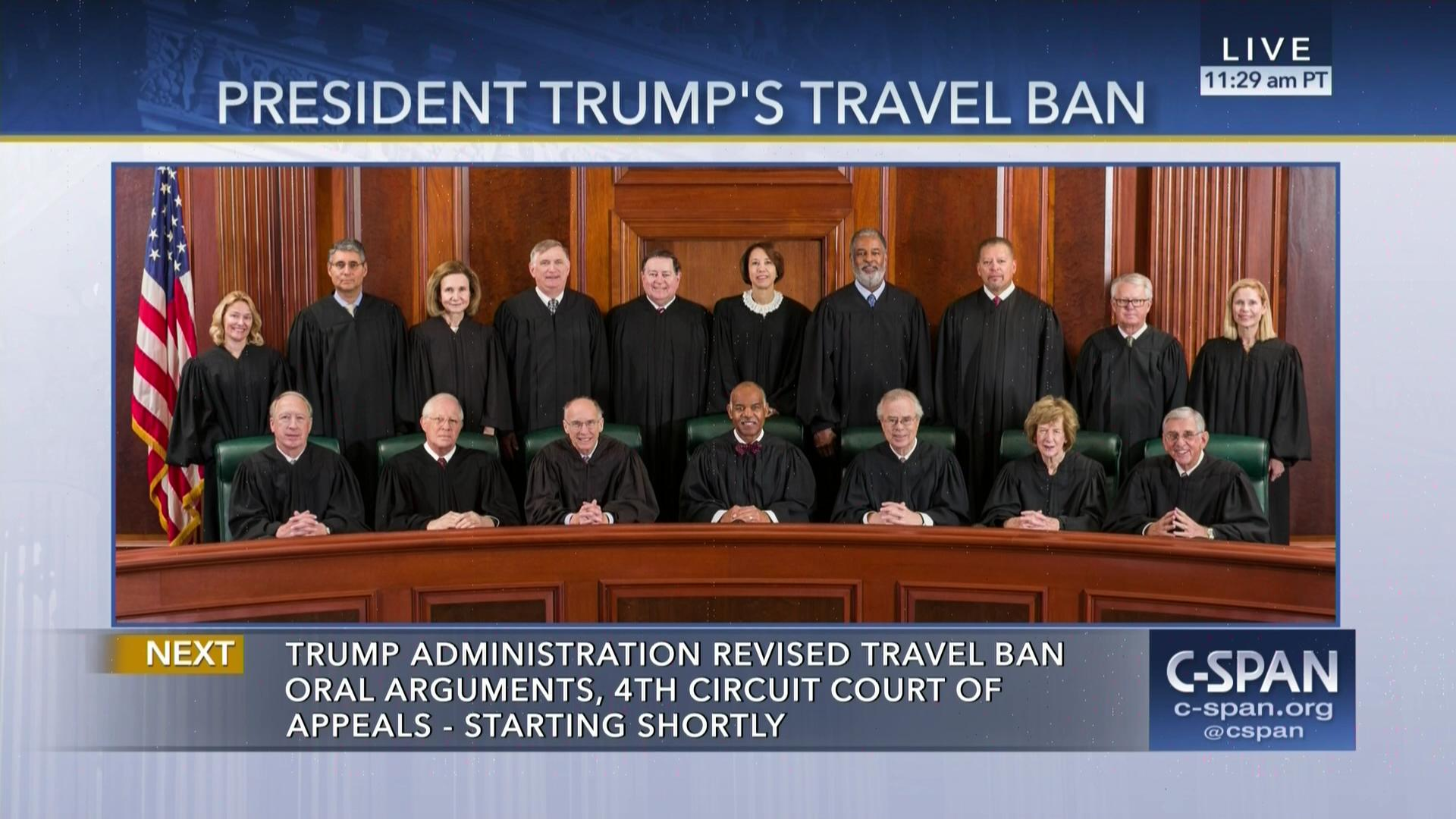 Months Fourth Circuit Court Abwnet Us Of Appeals And District Mapsvg Hears Oral Argument Travel Ban May 8 2017 Video C United States