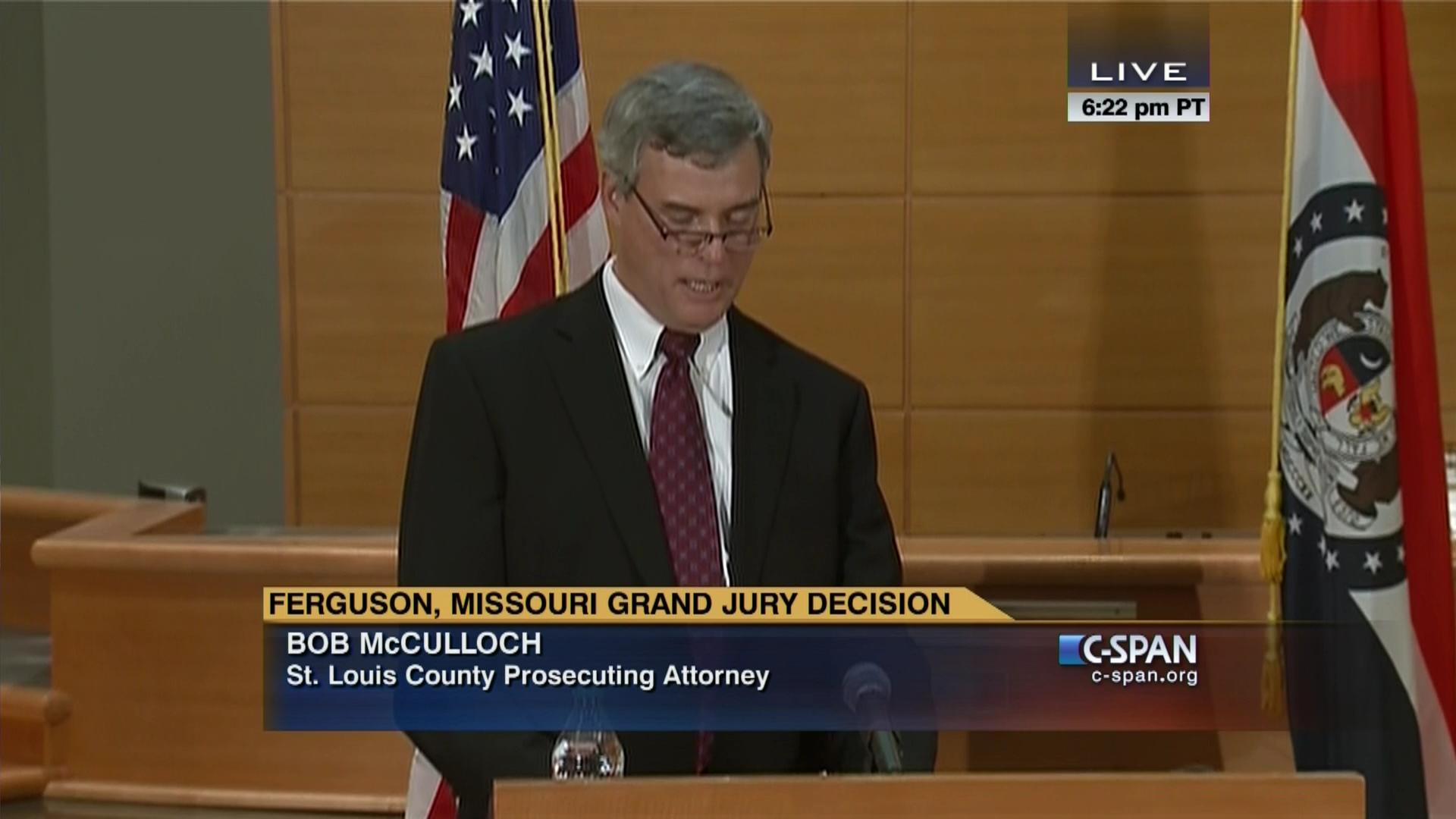 Ferguson Missouri Grand Jury Decision Announcement, Nov 24 2014   C ...