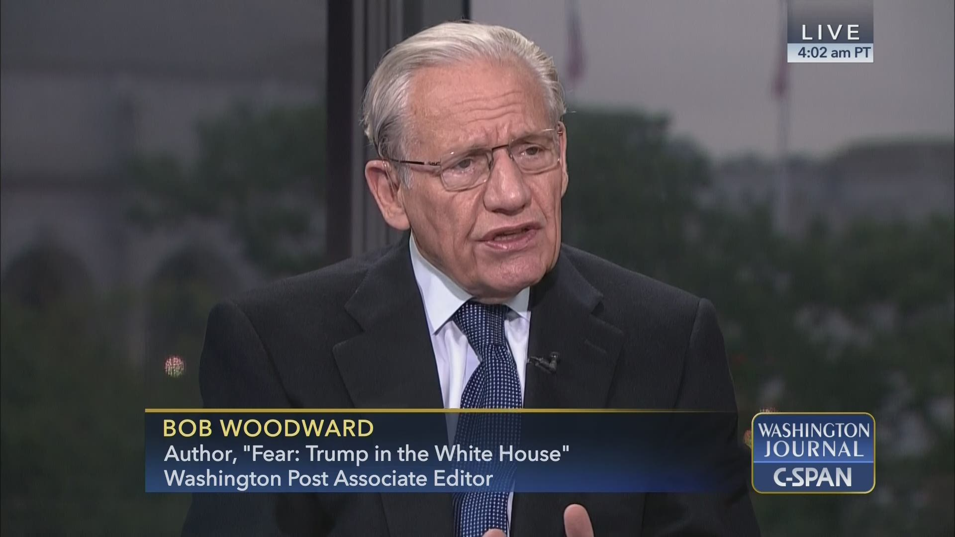 Bob Woodward on Fear: Trump in the White House