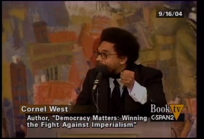 11 16 04 Cornell West Democracy Matters User Clip C Spanorg