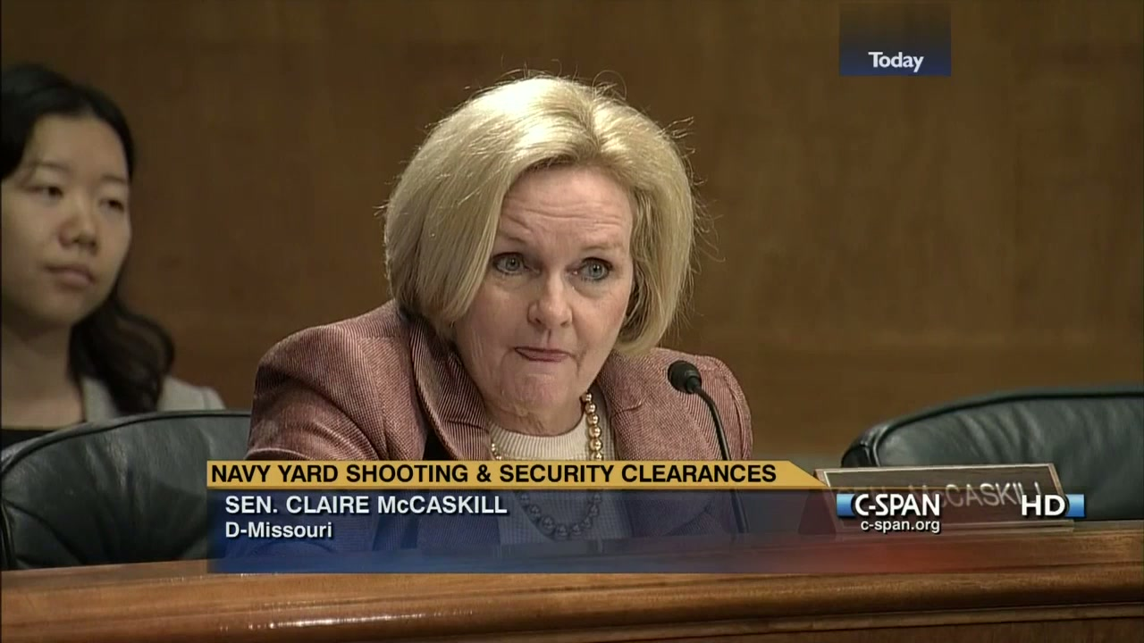 Sen  McCaskill on Background Checks for Security Clearance