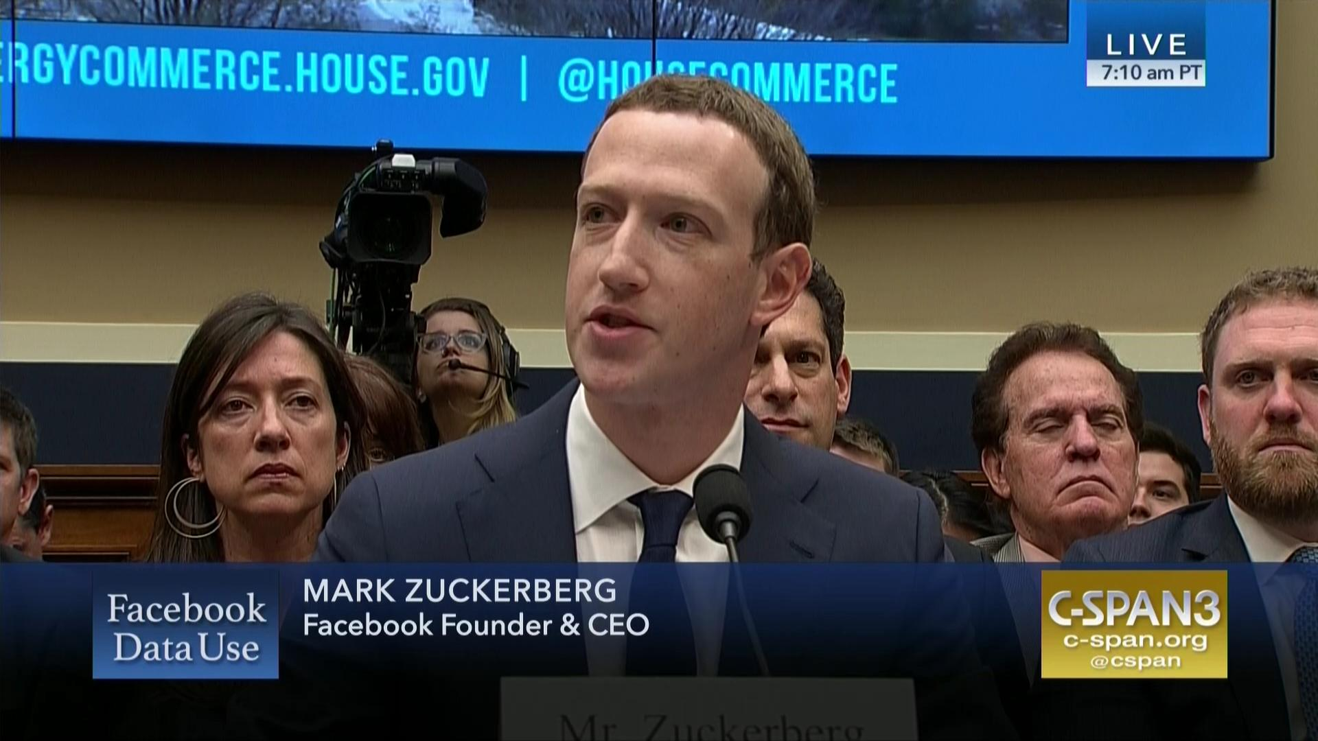 Live Stream Facebook Ceo Mark Zuckerberg House Hearing On Data