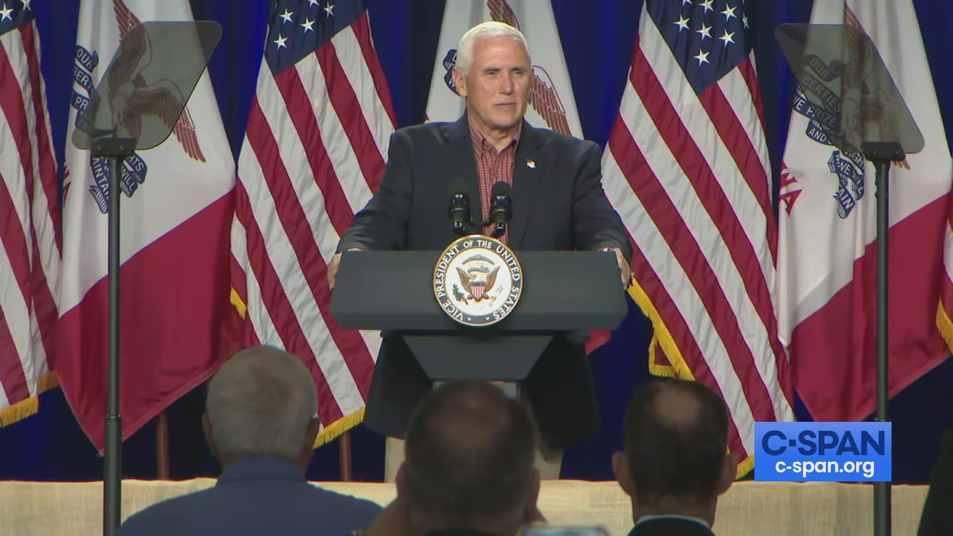 Vice President Pence Meets With Farmers In Des Moines Iowa C Span Org