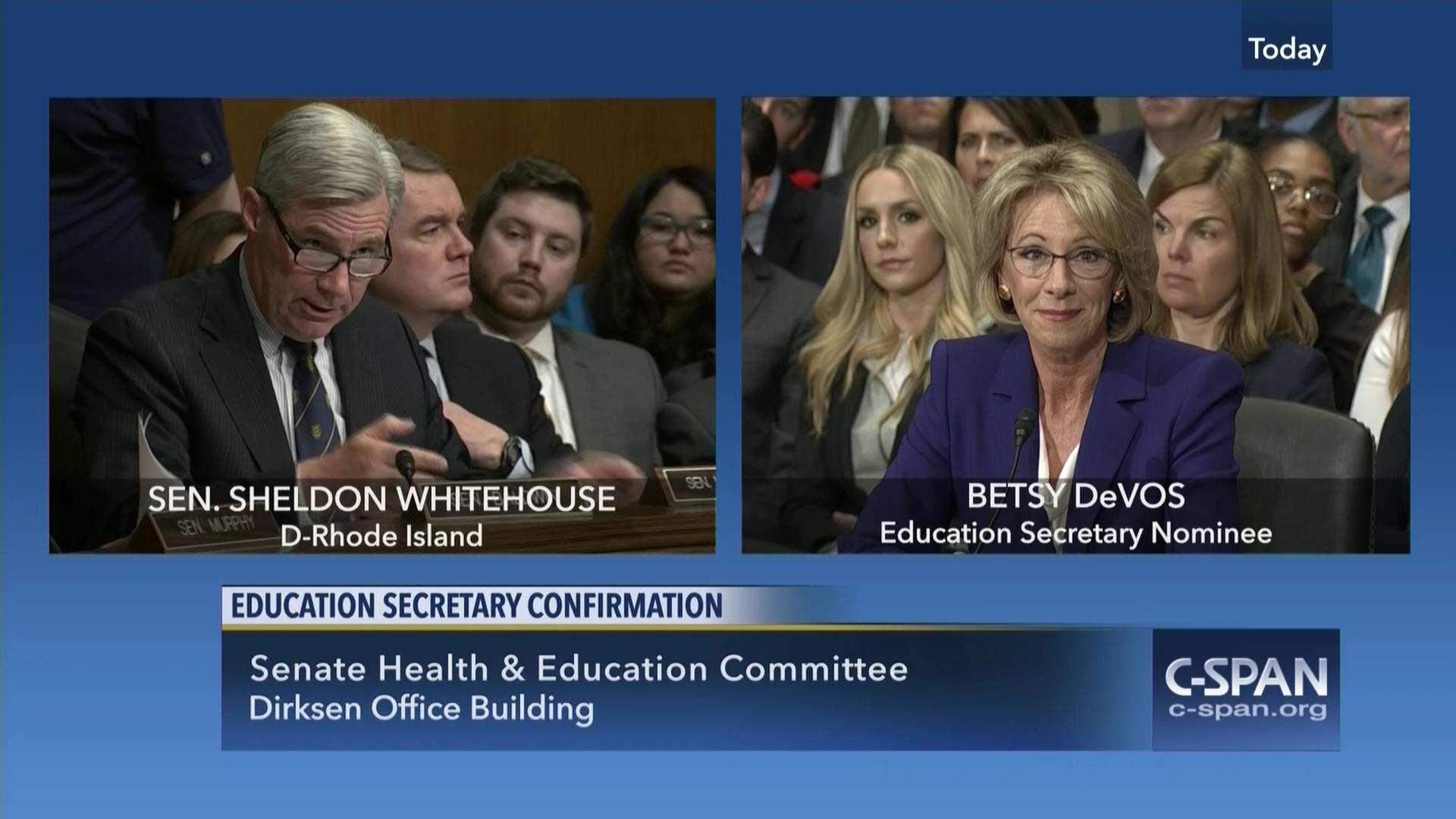 Betsy Devos Nomination Chilling >> Dover Referenced In Devos Hearing C Span Org