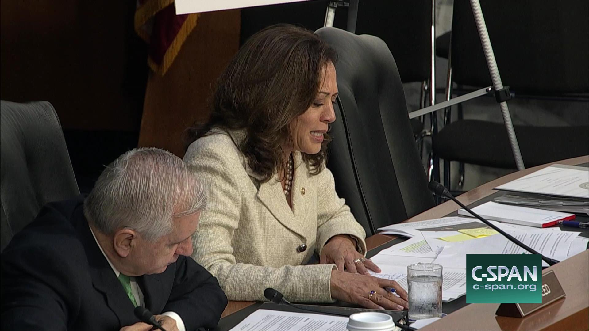 Kamala Harris in Senate Cmte