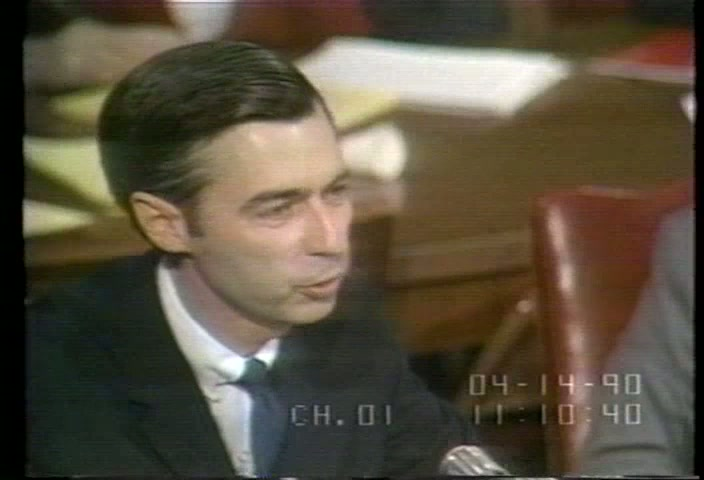 On May 1 1969 Fred Rogers Mr Rogers Appeared Before Senate Commerce Committee To Support Public Tv C Span Org