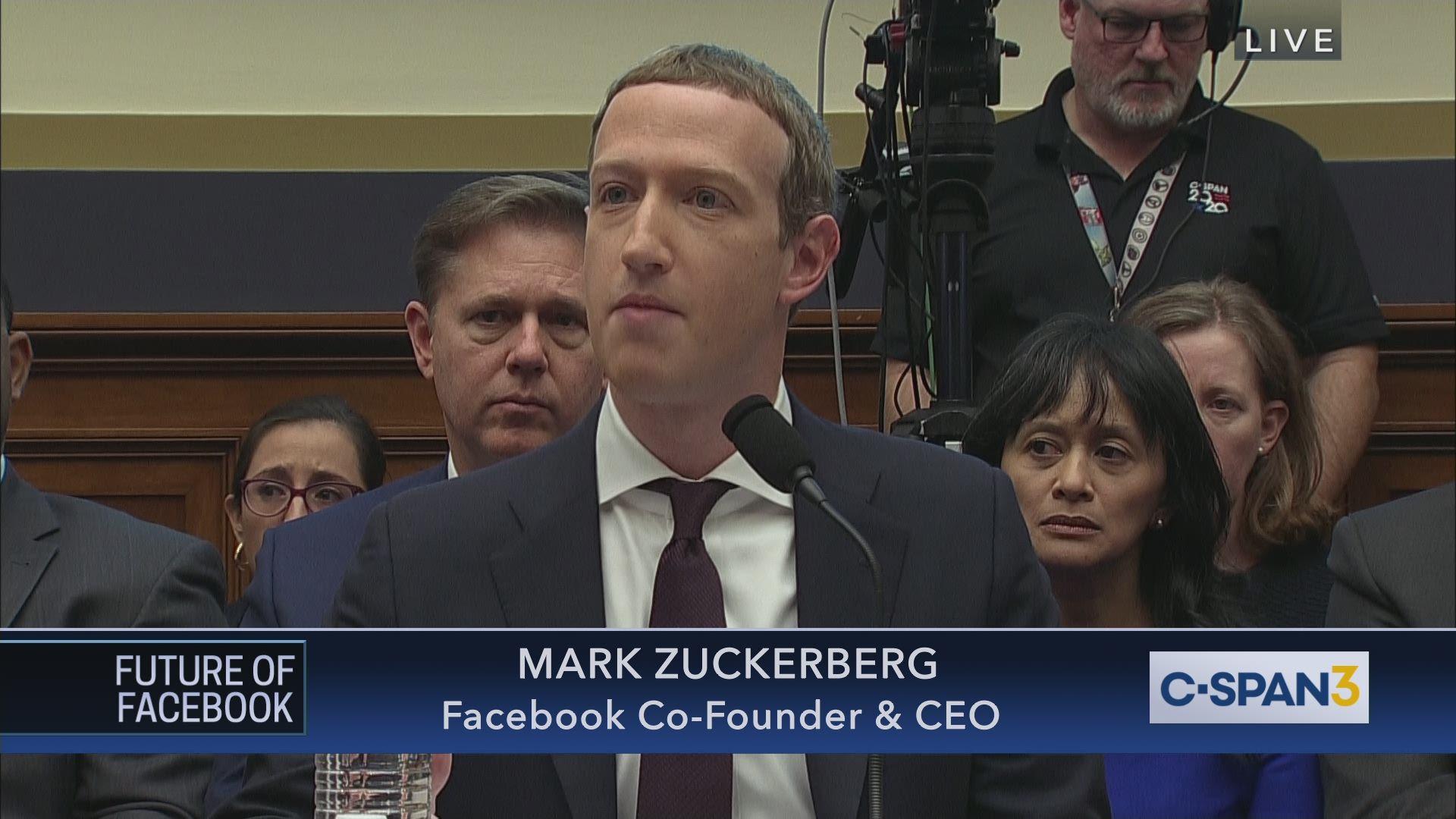 Facebook Ceo Mark Zukerberg Testifies Before Congress On Libra