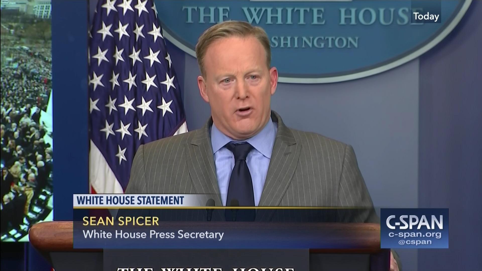 white house spokesman criticizes media coverage inauguration | c