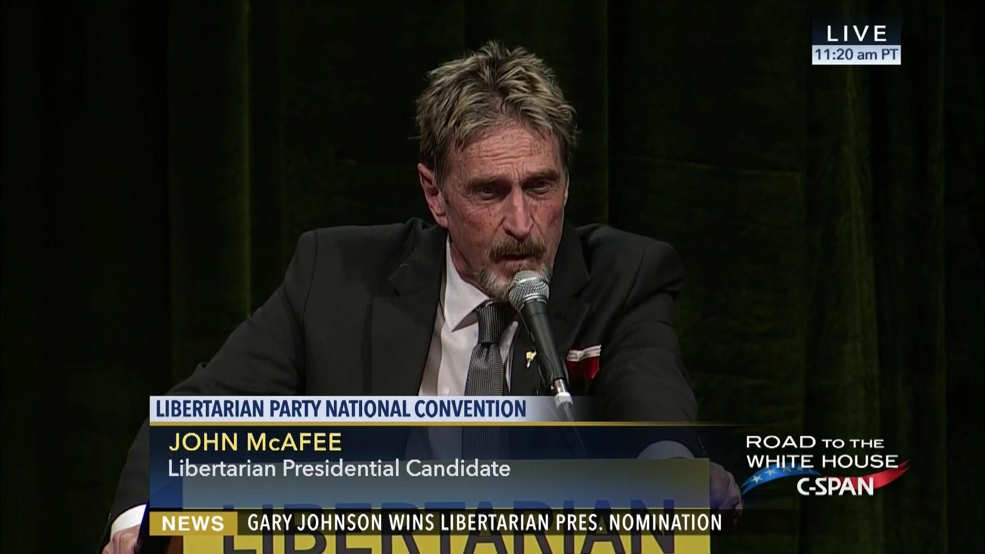 2008 01 31 the libertarian party s response to the state of the union address feed - John D Mcafee