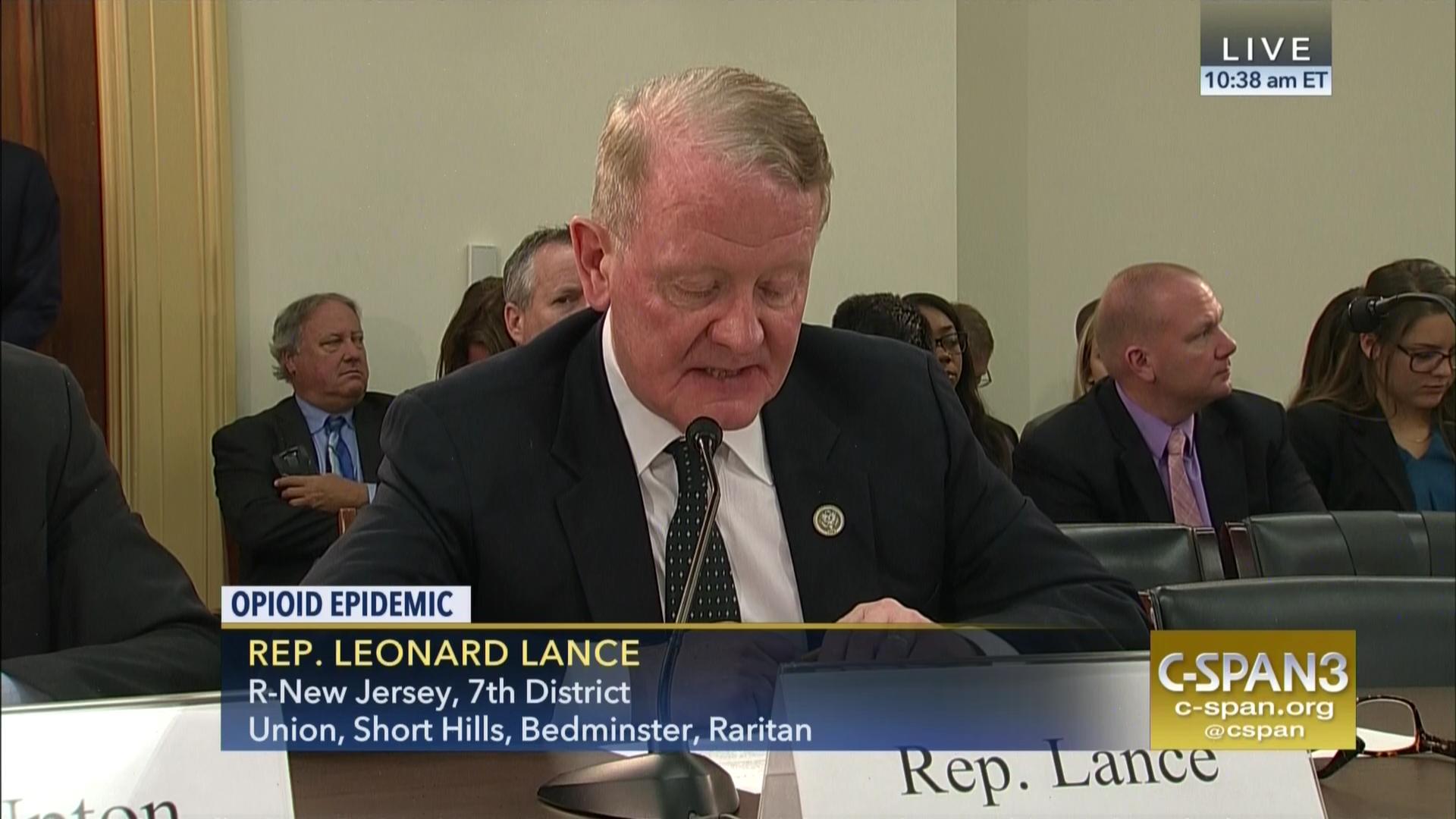 Congressman Leonard Lance Testifies Energy U0026 Commerce Committee