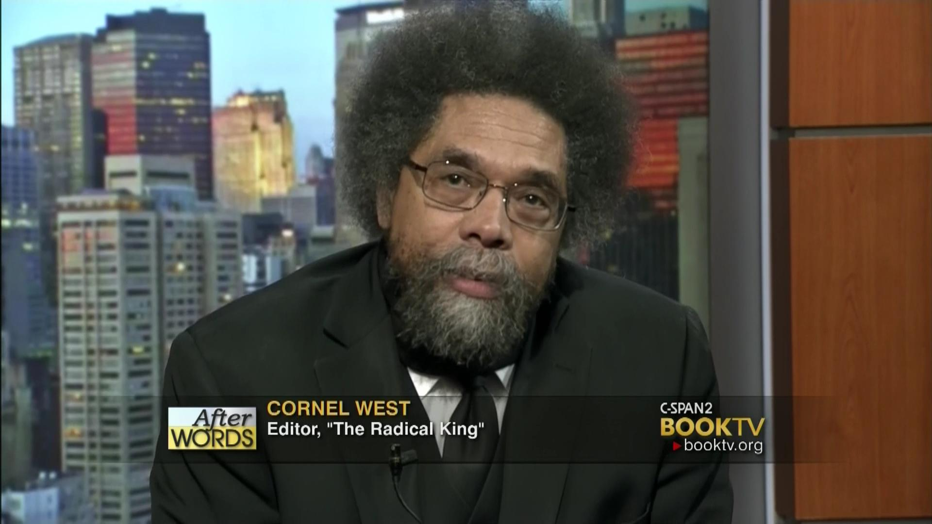 words cornel west video c span org