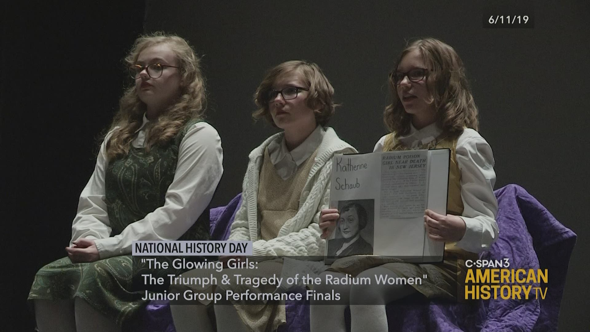 National History Day Glowing Girls The Triumph And Tragedy Of The Radium Women C Span Org