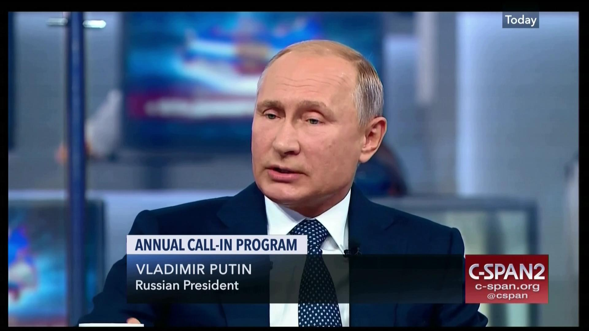 Russian President Putin Annual Call In Program C Span Org