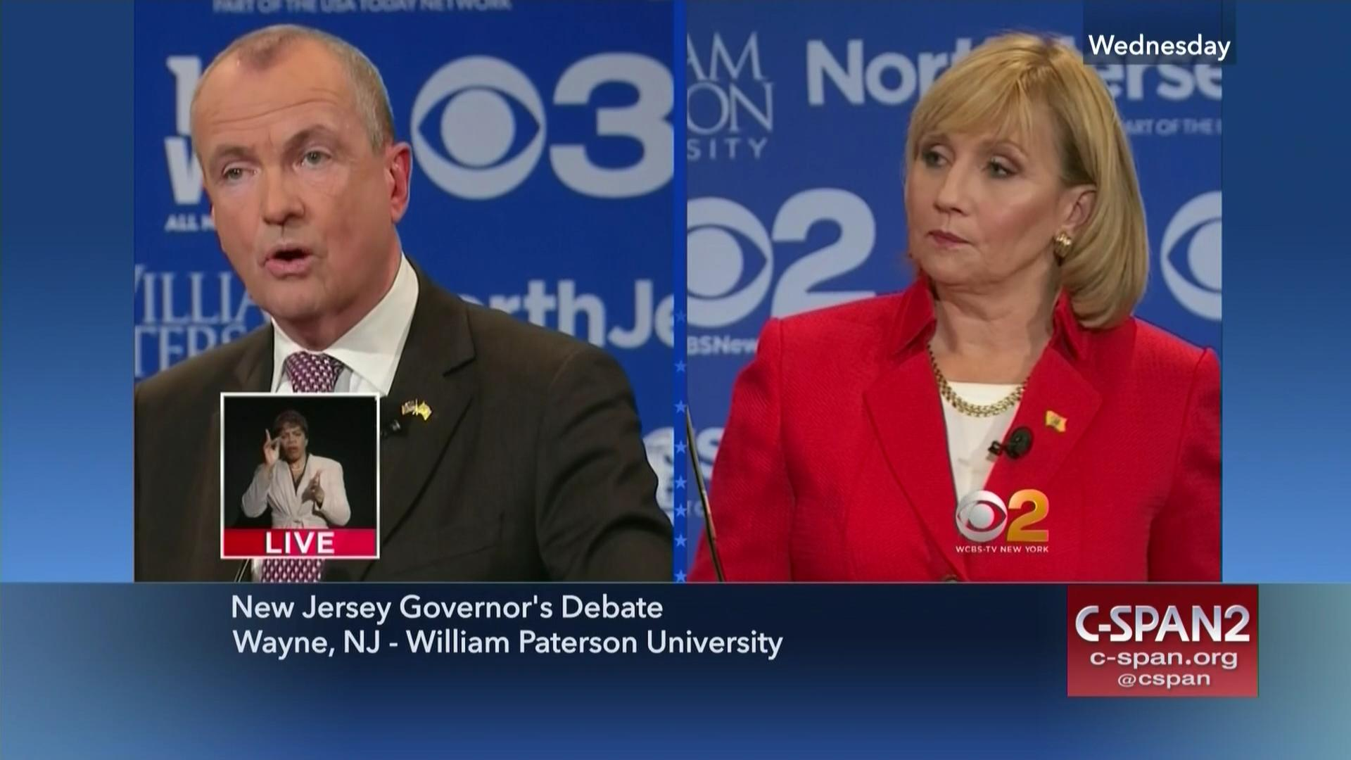 Candidates face jersey governor's debate, oct 18 2017 | video | c.
