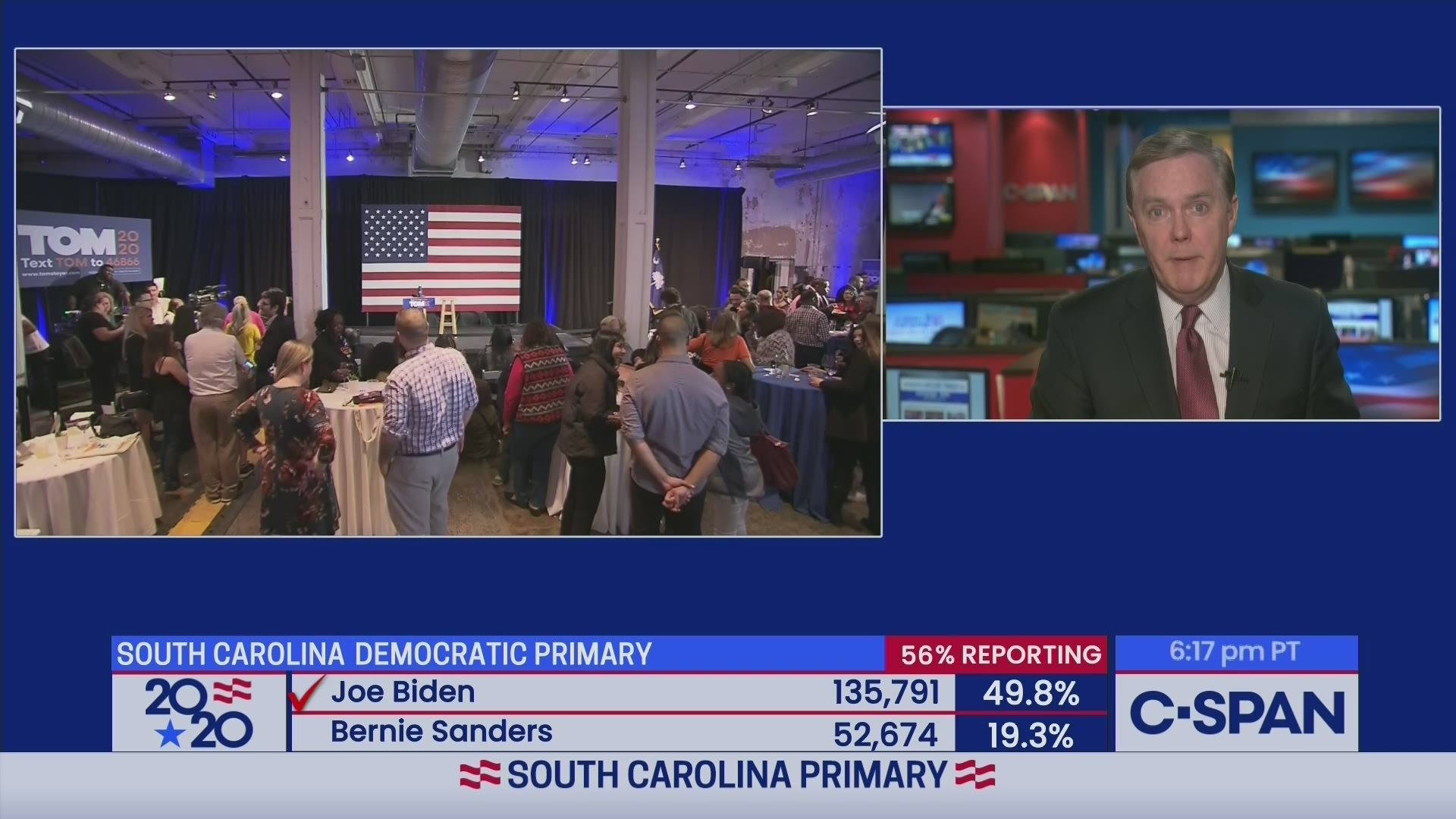 South Carolina Democratic Primary Coverage And Speeches C Span Org Eat hot chip & lie. campaign 2020