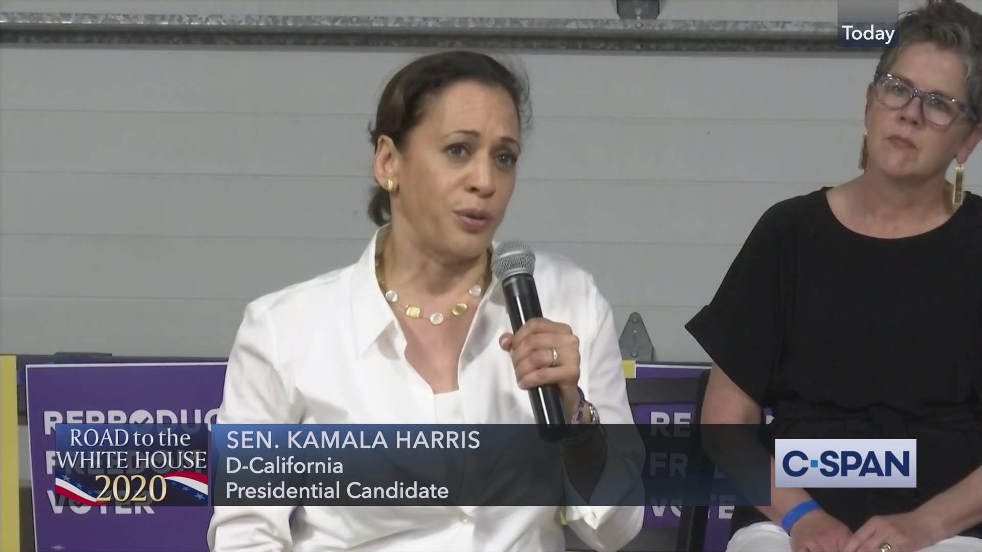 Senator Kamala Harris Town Hall In Des Moines Iowa C Span Org