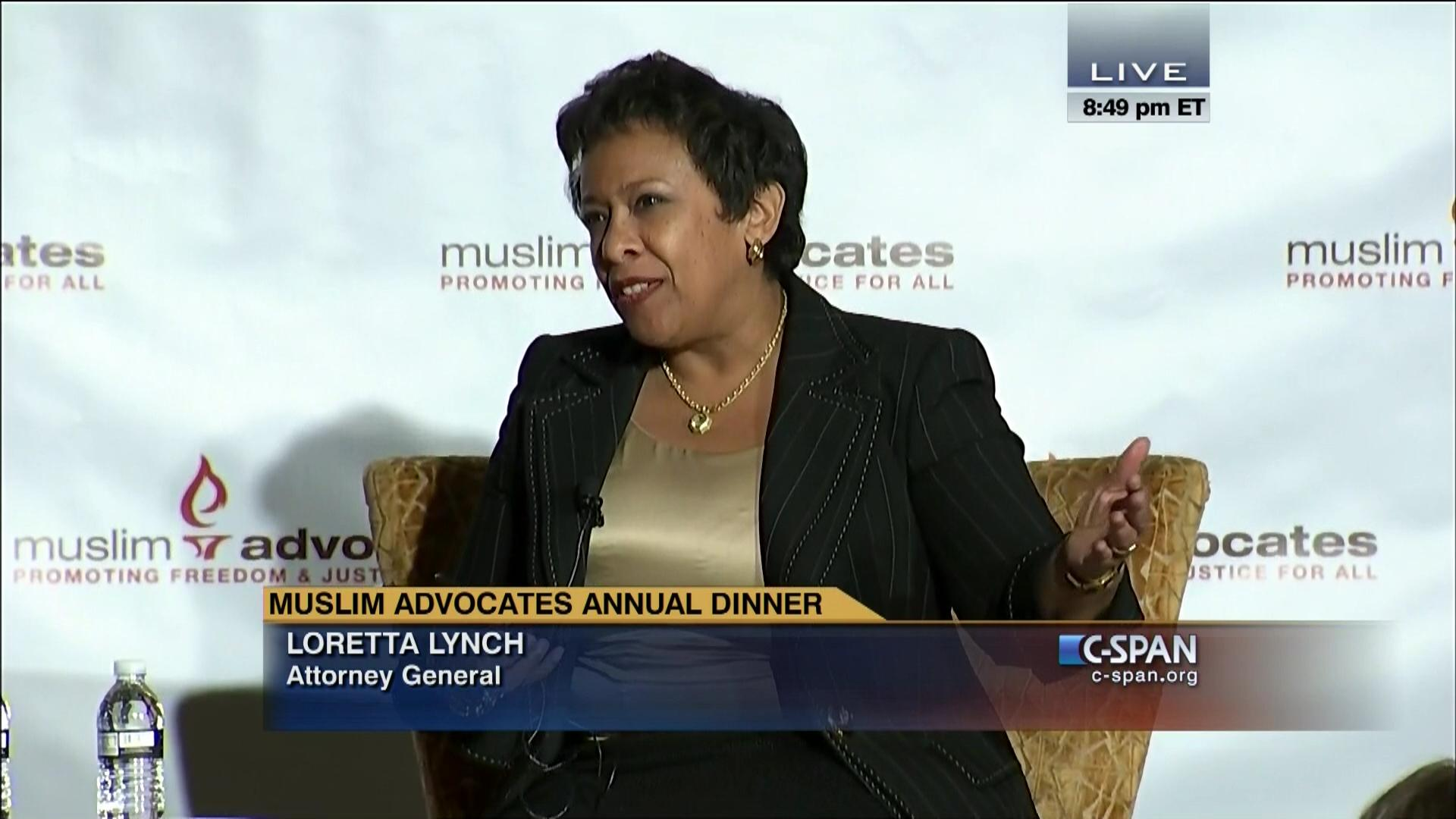attorney general loretta lynch remarks muslim video c span org