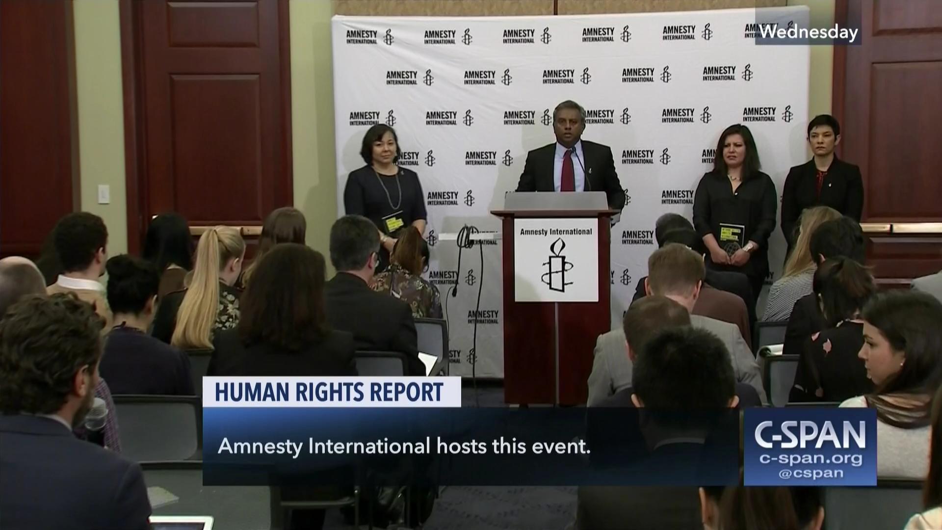 Amnesty International Holds Human Rights Briefing 0f1c7e37db