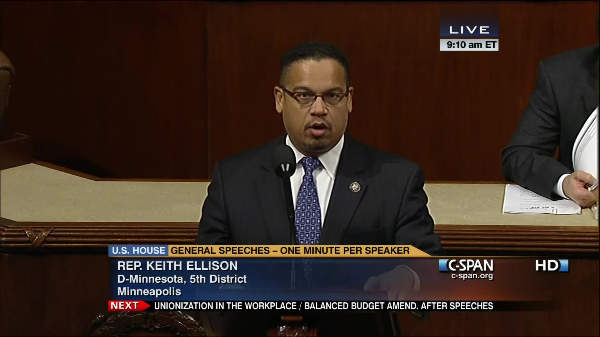 5b6e928c479 Rep Ellison Floor Speech