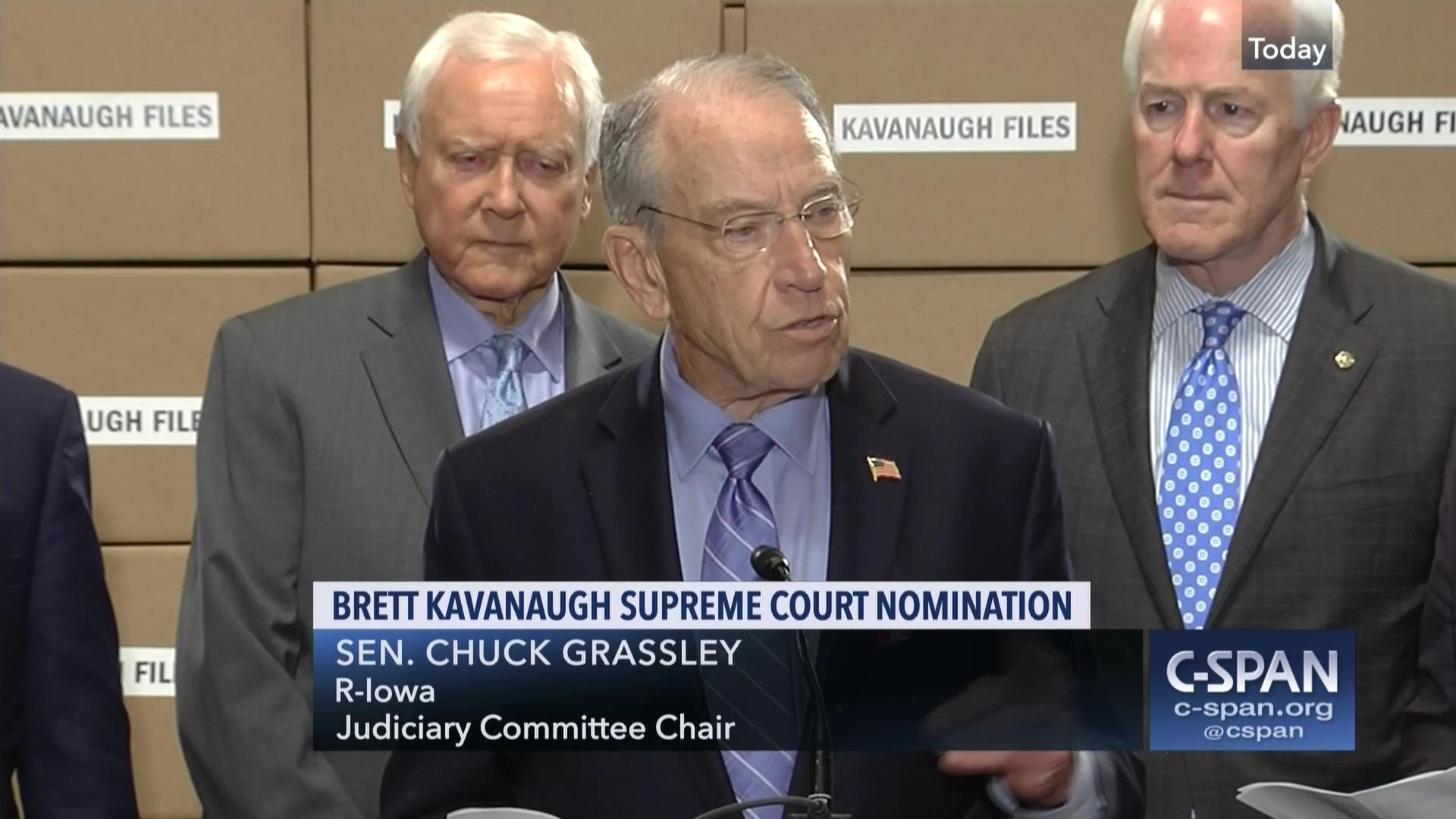 Image result for photos of kavanaugh grassley hatch