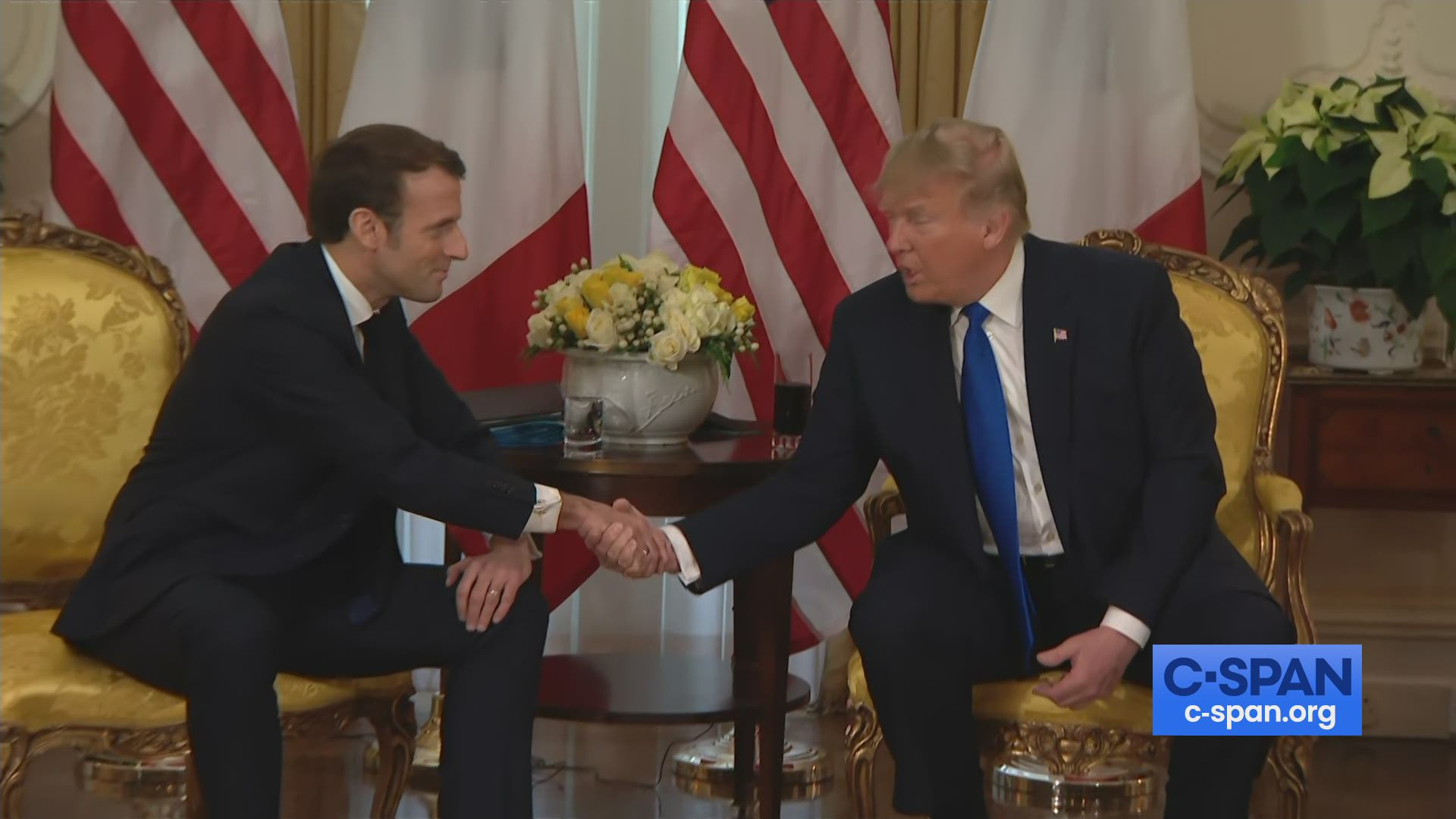President Trump And French President Macron Meeting At Nato Summit C Span Org