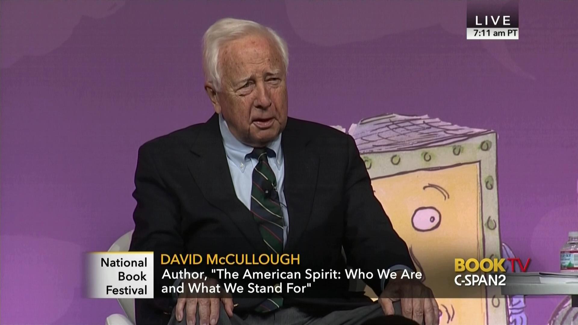 Historian David McCullough Discusses American Spirit, Sep 2 2017 |  C-SPAN.org